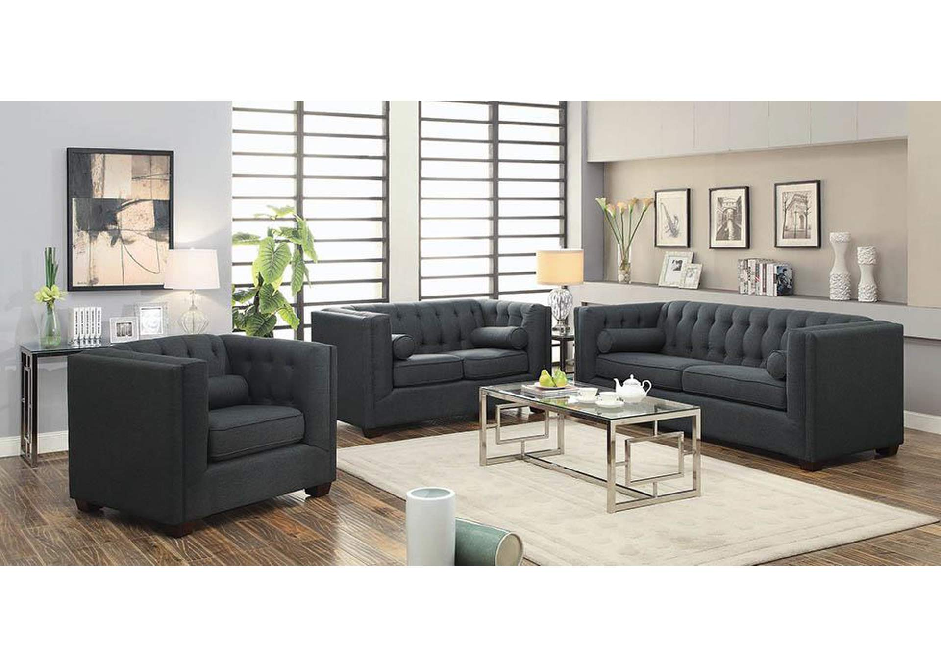 Cairns Brown Loveseat,Coaster Furniture