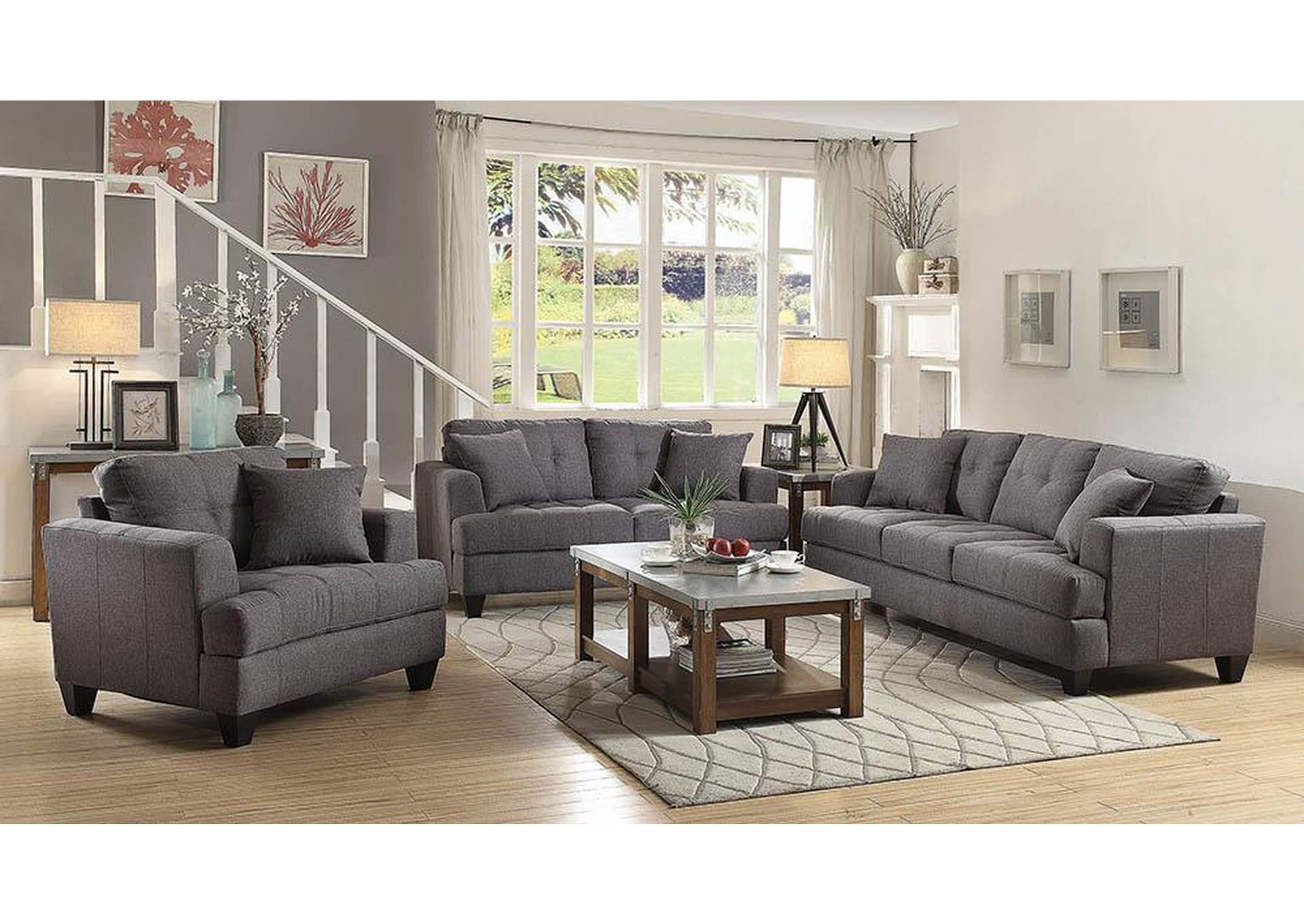 Fine Living Furniture Samuel Charcoal Sofa