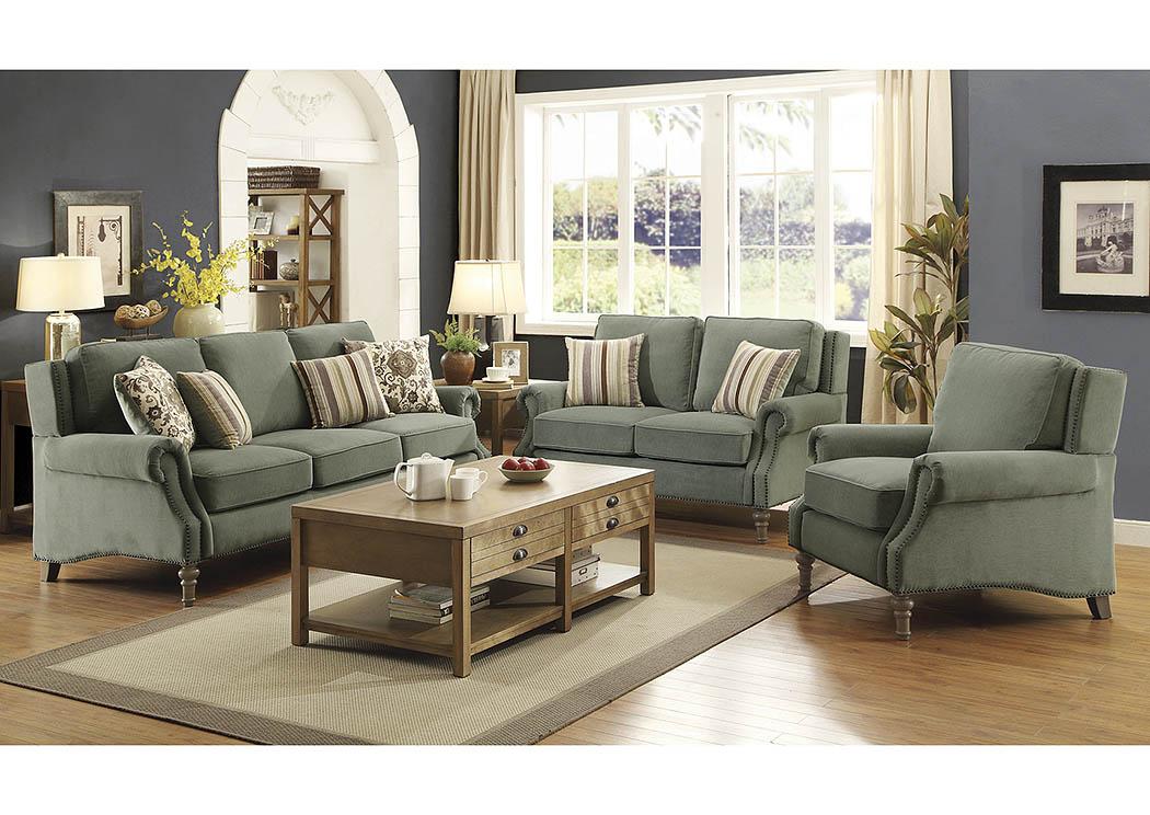 Light Sage Sofa And Loveseat