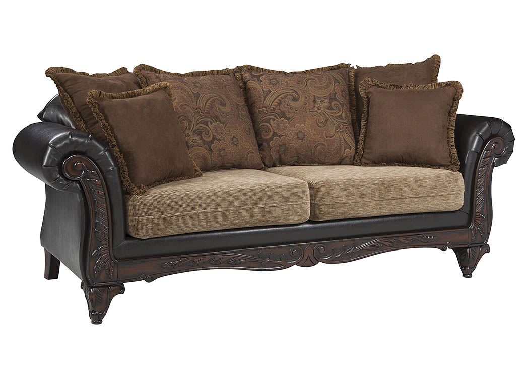 Garroway Russet and Chocolate Sofa,Coaster Furniture