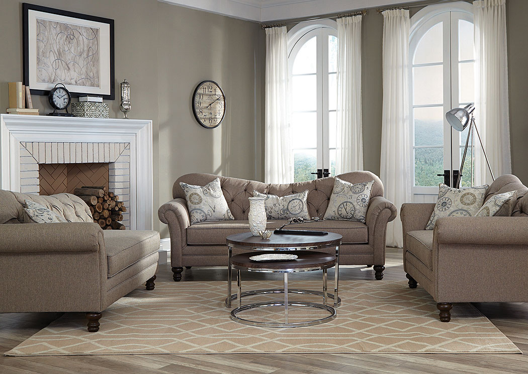 Carnahan Stone Grey Sofa And Loveseat,Coaster Furniture