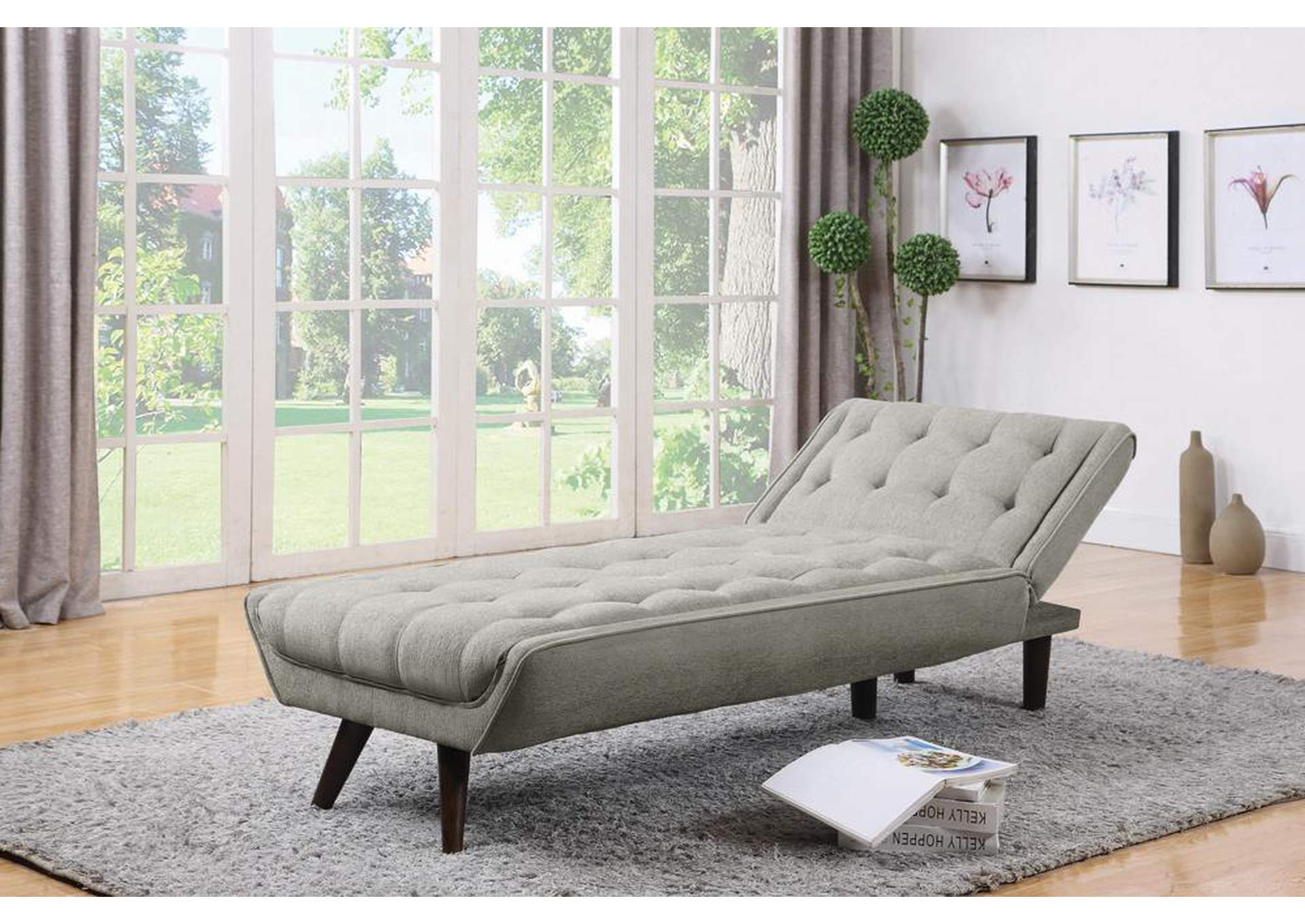 Dove Grey Chaise Bed,Coaster Furniture