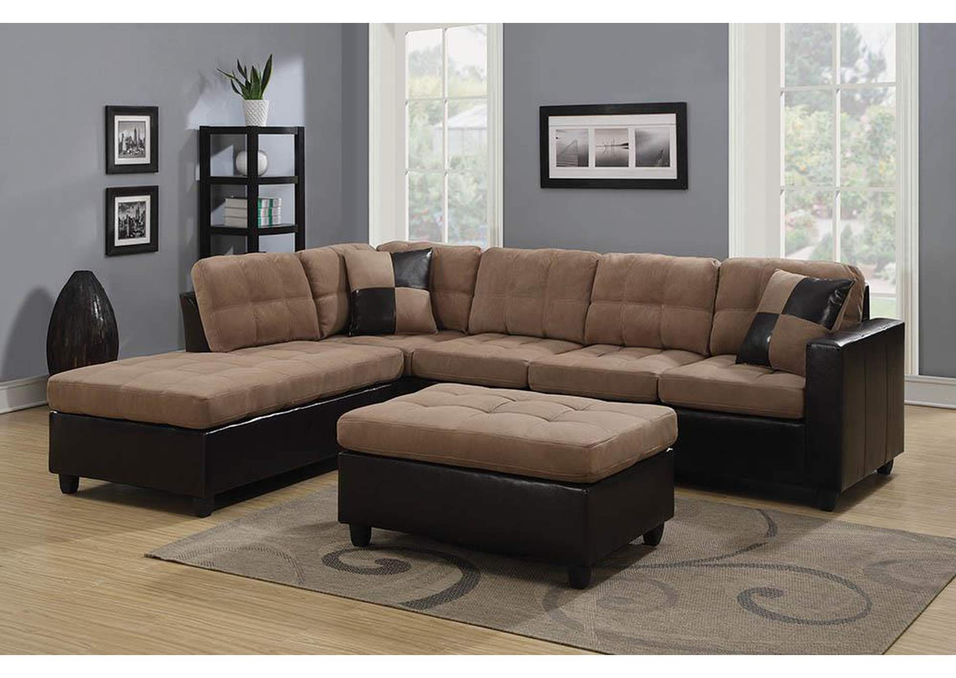 Mallory Tan Sectional,Coaster Furniture