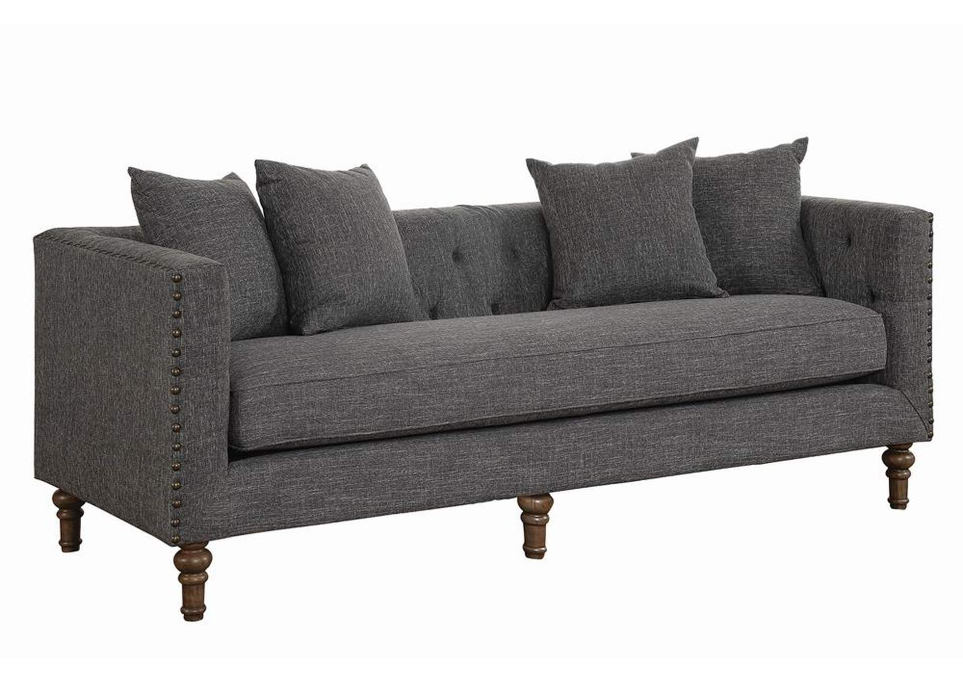 Weathered Grey Ellery Grey Sofa,Coaster Furniture