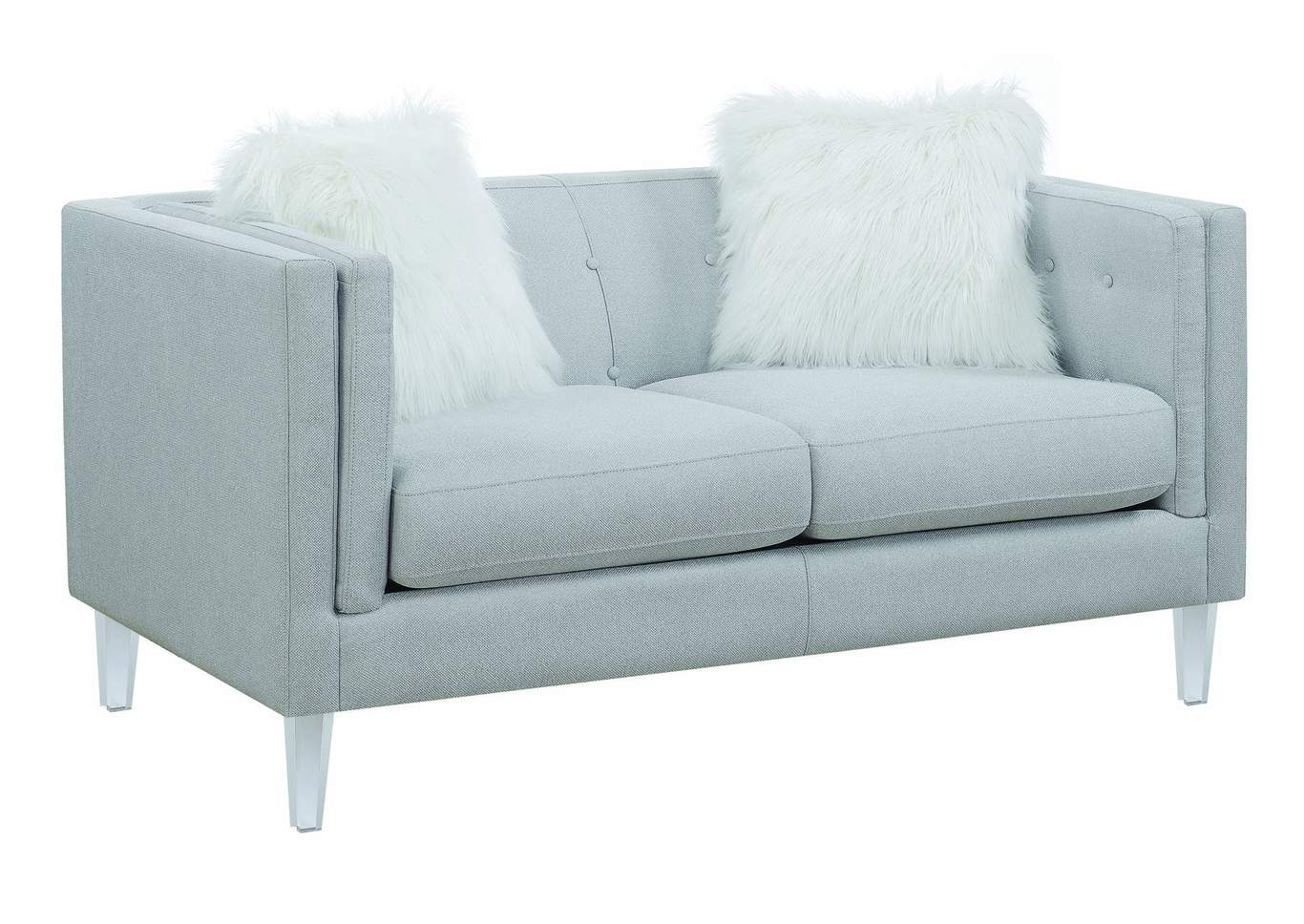 Awe Inspiring Irving Blvd Furniture Hemet Light Grey Loveseat Gmtry Best Dining Table And Chair Ideas Images Gmtryco