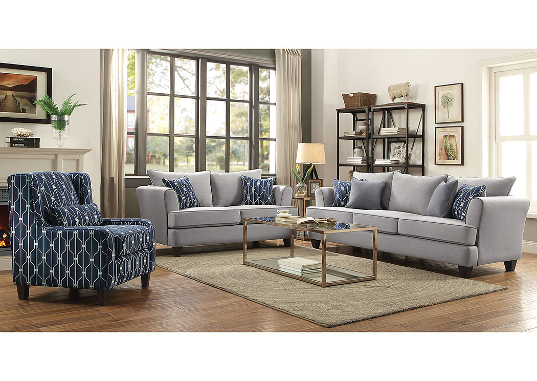 Blue Sofa,Coaster Furniture