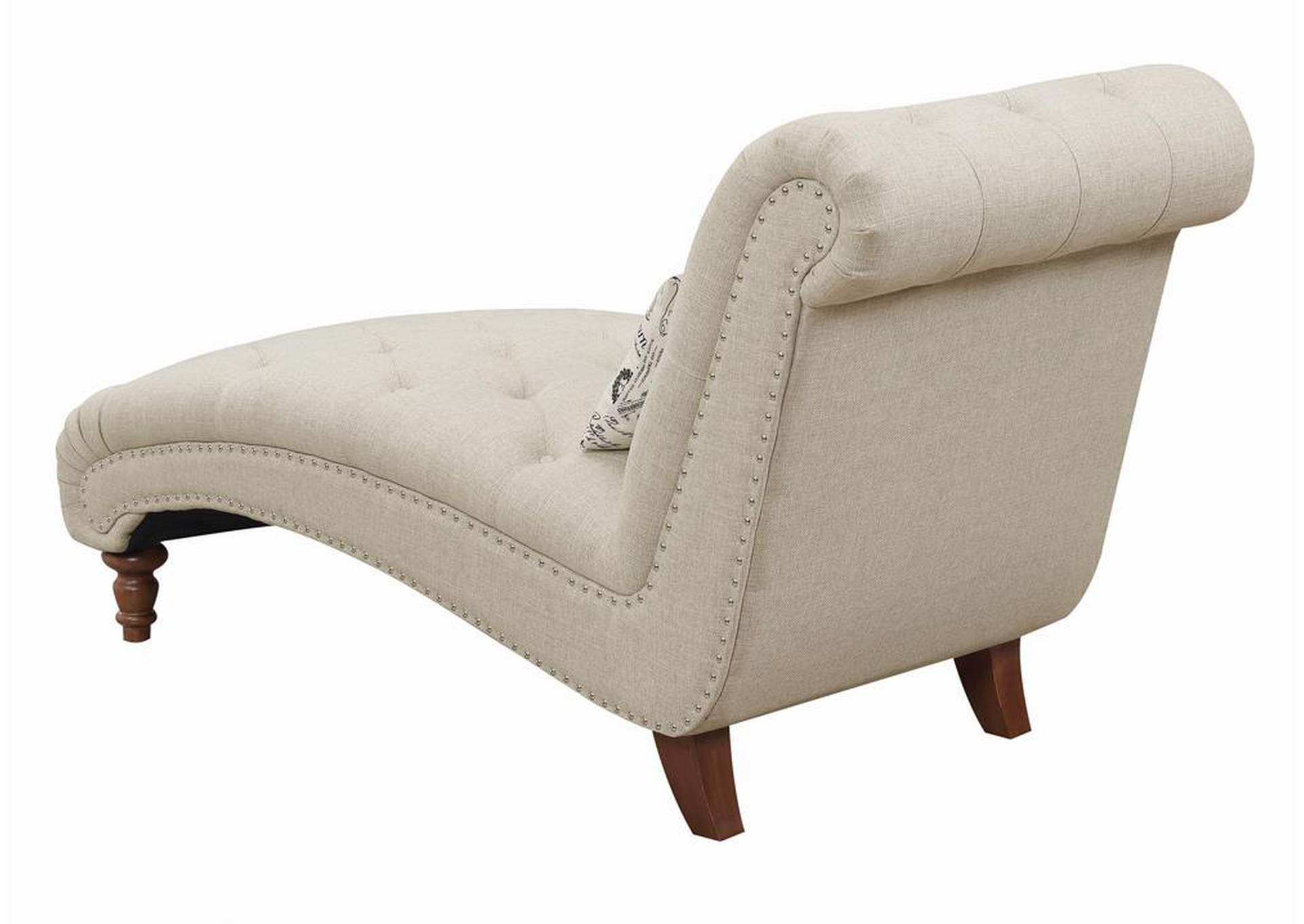 Oatmeal Brown Chaise,Coaster Furniture