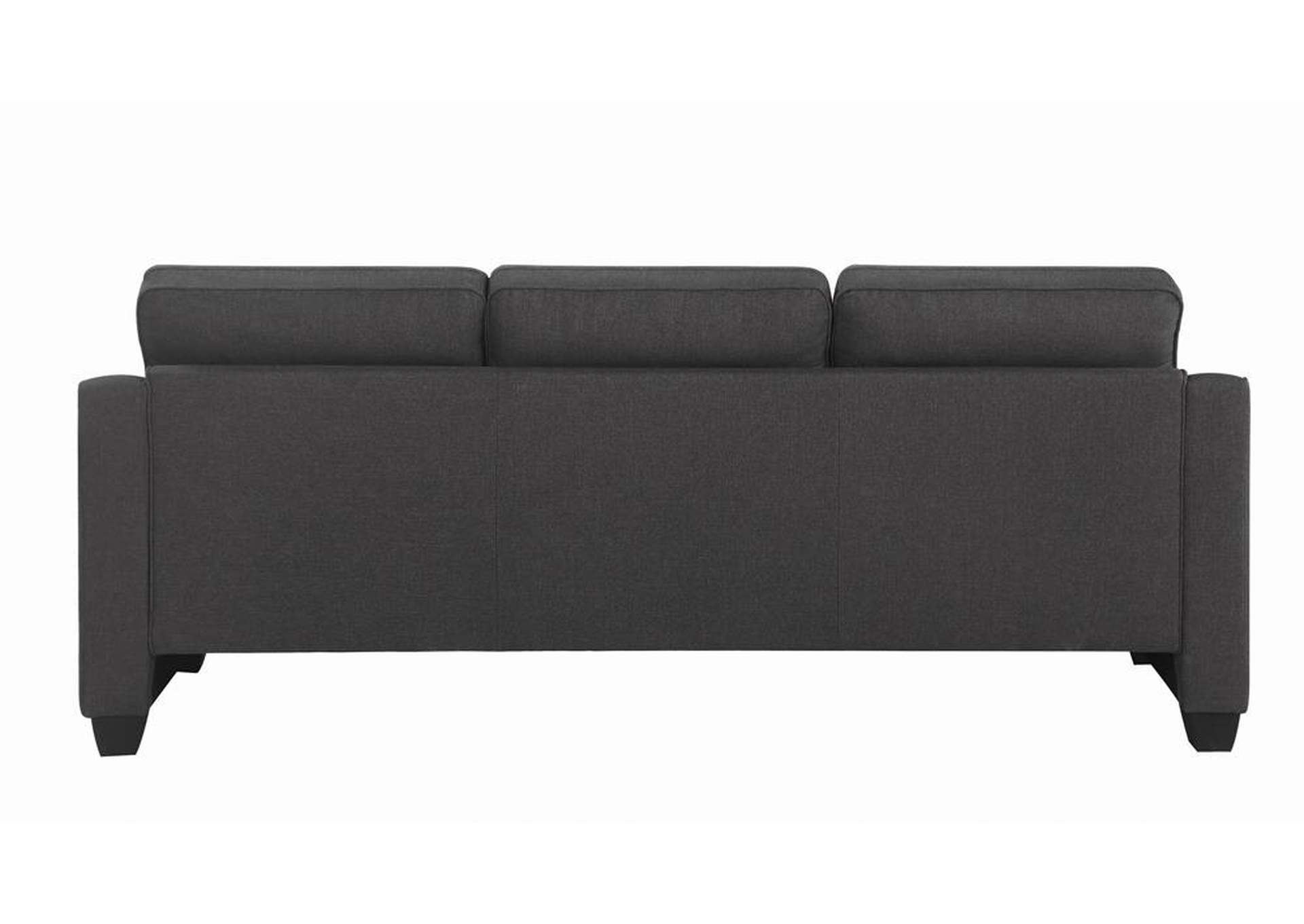 Dark Grey Reversible Sectional,Coaster Furniture