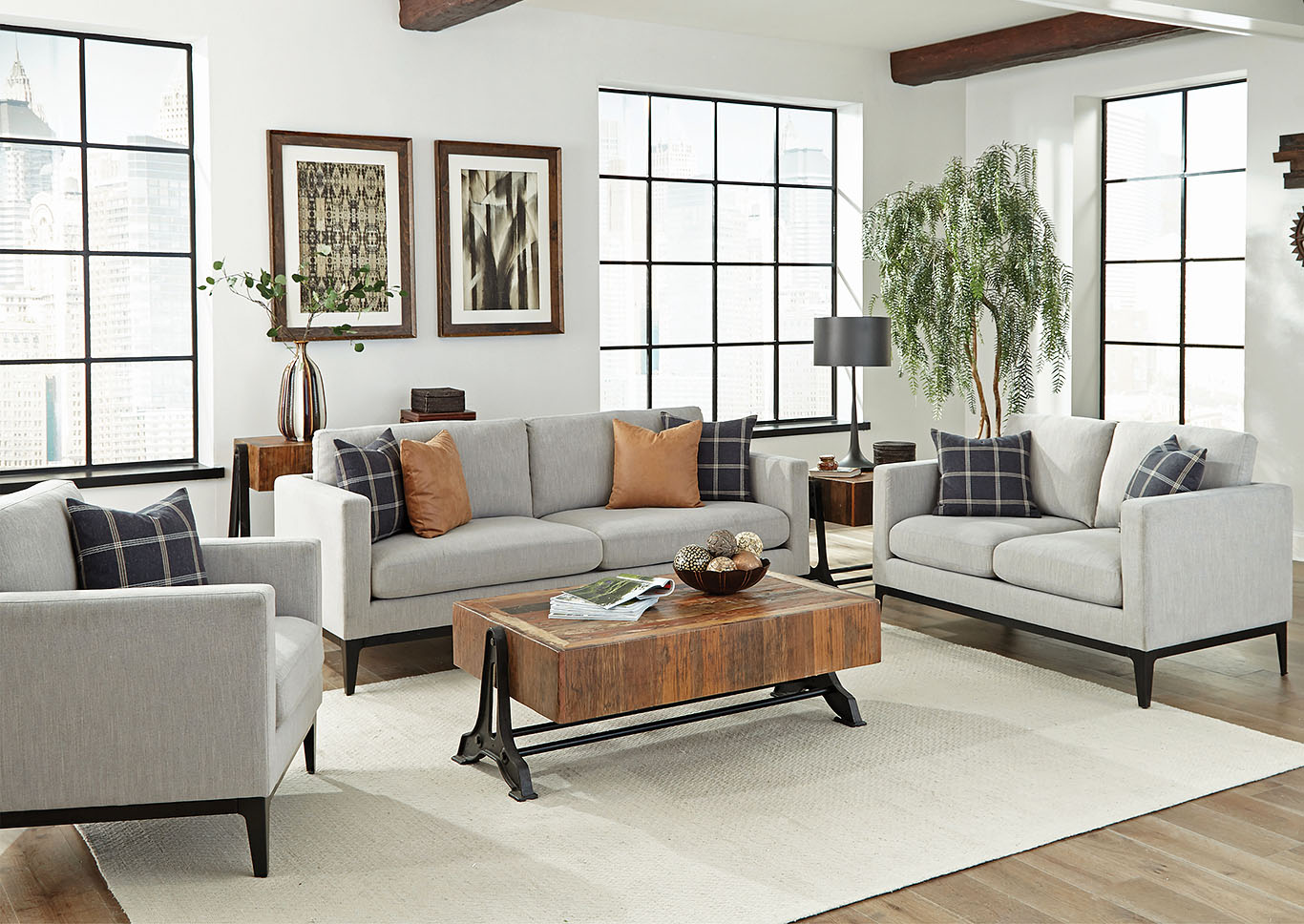 Light Grey Sofa,Coaster Furniture