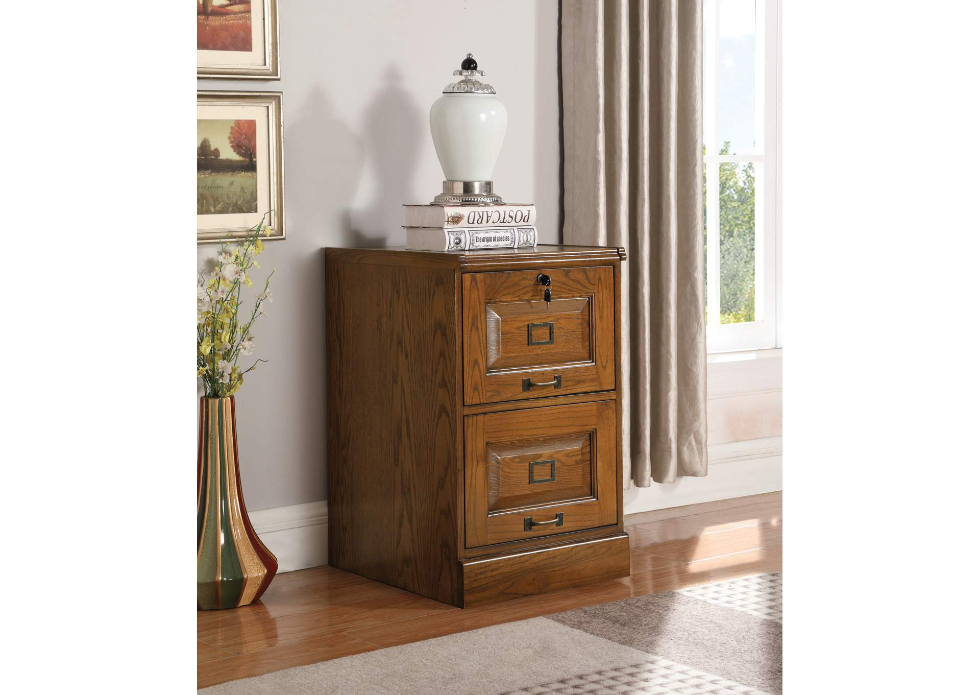 Palmetto Two-Drawer File Cabinet,Coaster Furniture