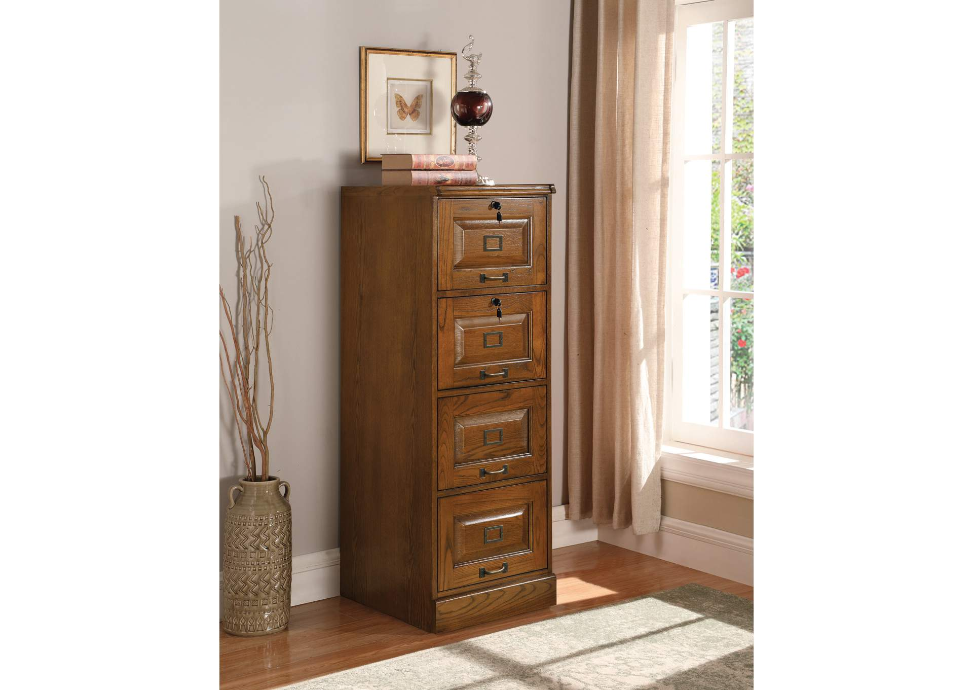 Palmetto Four-Drawer File Cabinet,Coaster Furniture