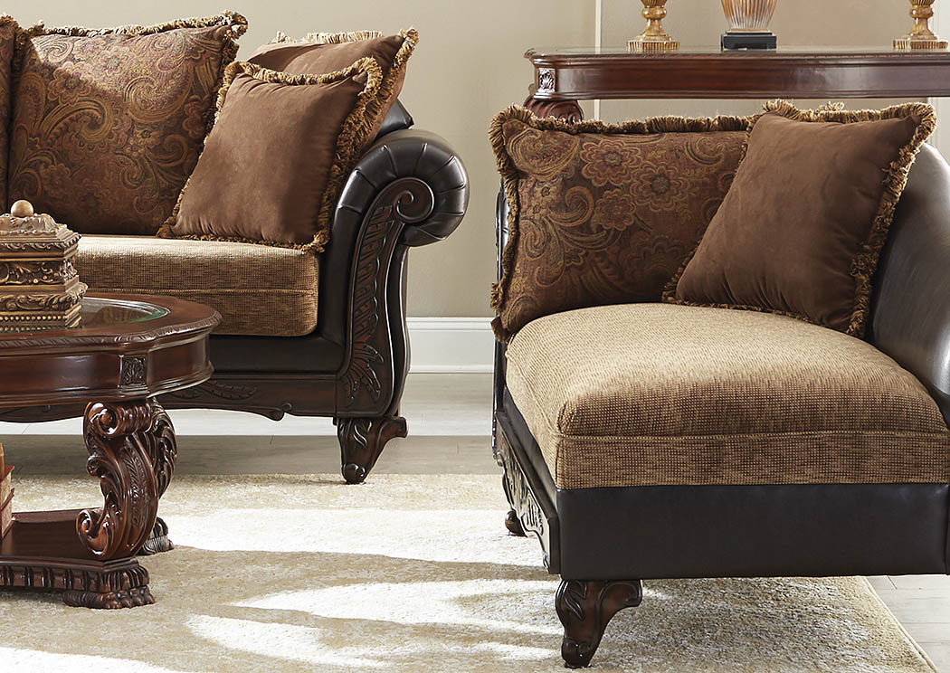 Garroway Russet and Chocolate Chaise,ABF Coaster Furniture