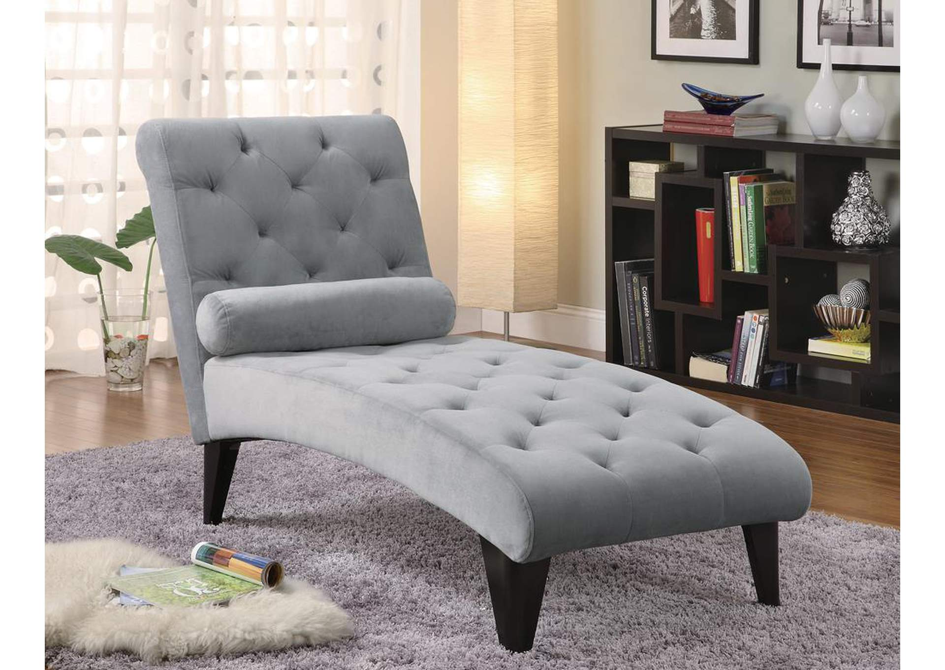 Grey Chaise,ABF Coaster Furniture