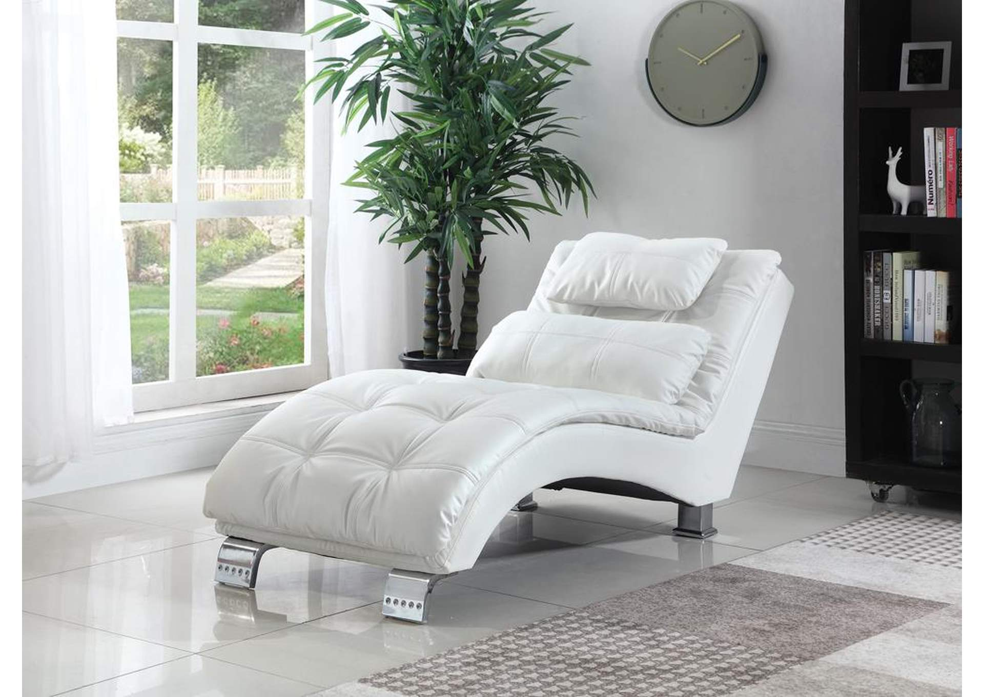White Chaise,ABF Coaster Furniture