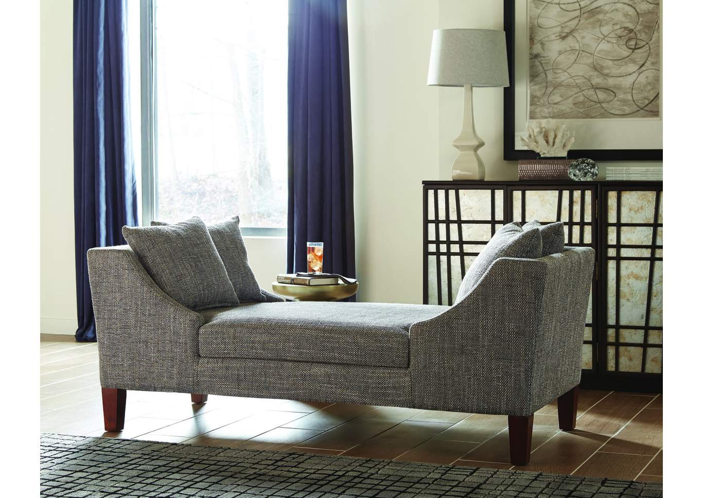 Dilleston White Chaise,Coaster Furniture