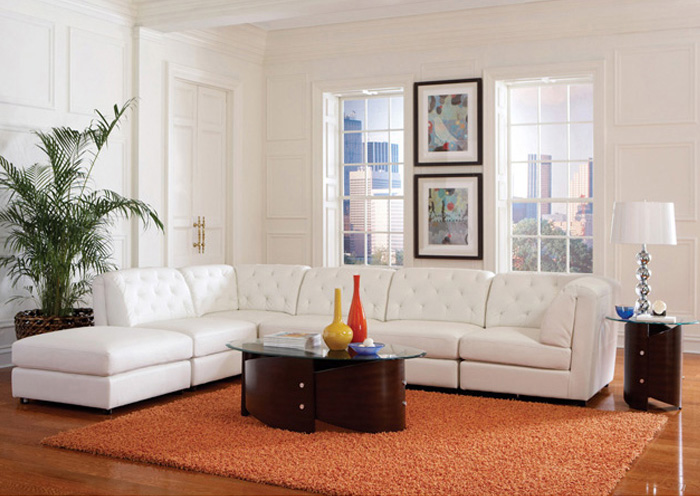 Quinn White Modular Sectional,Coaster Furniture