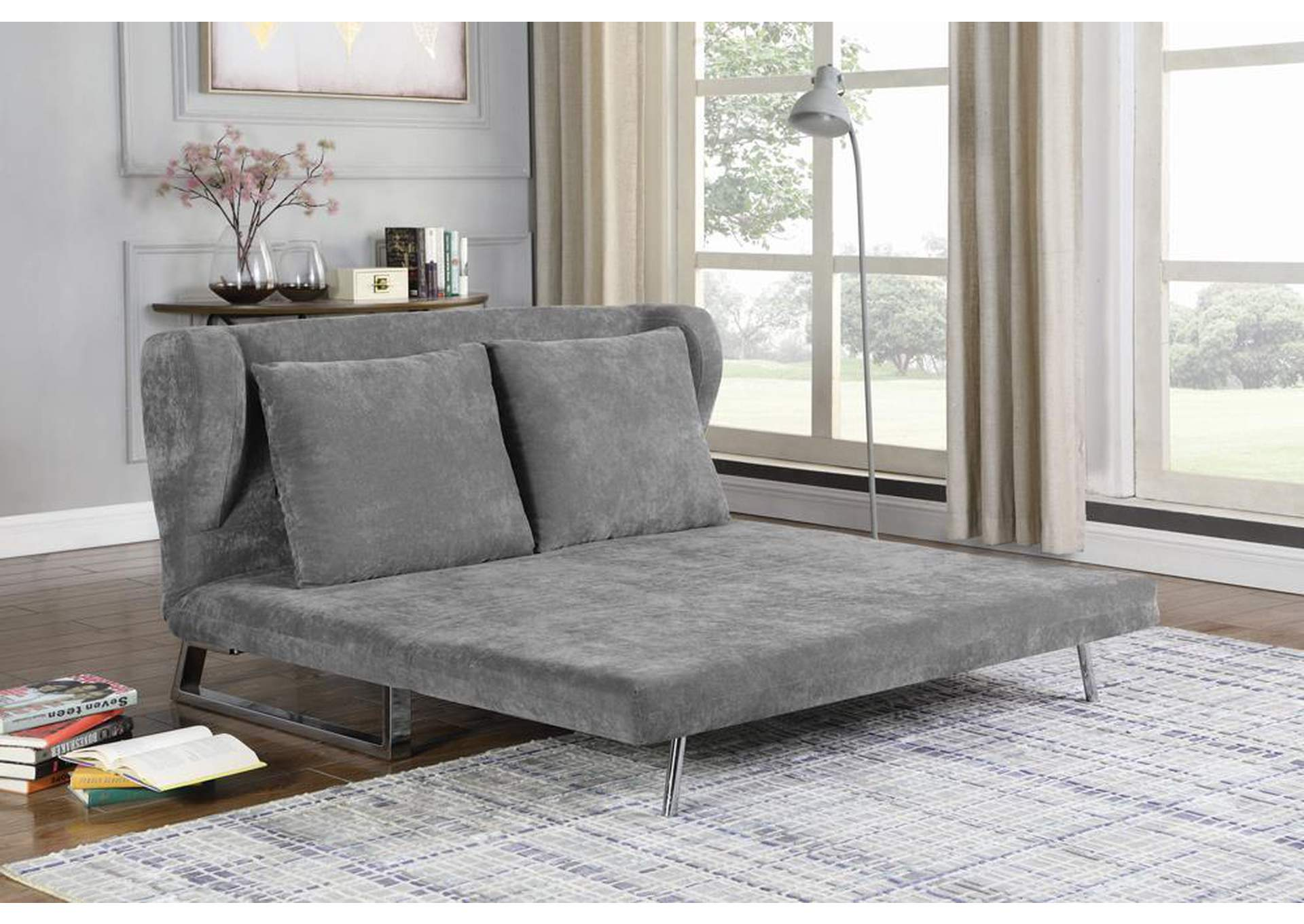 Affordable Furniture Houston Grey Velvet Sofa Bed