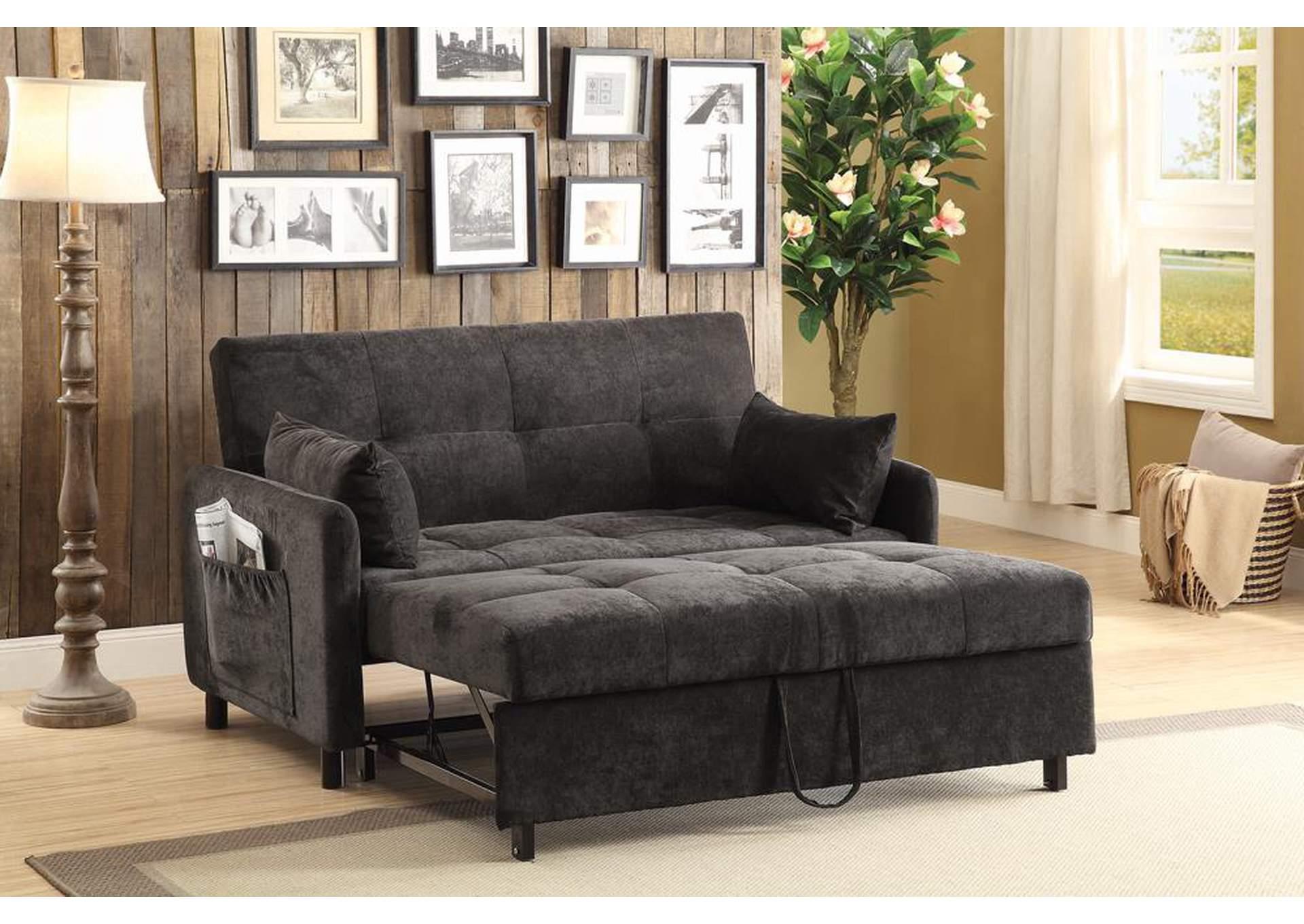 Harlem Furniture Dark Brown Sofa Bed