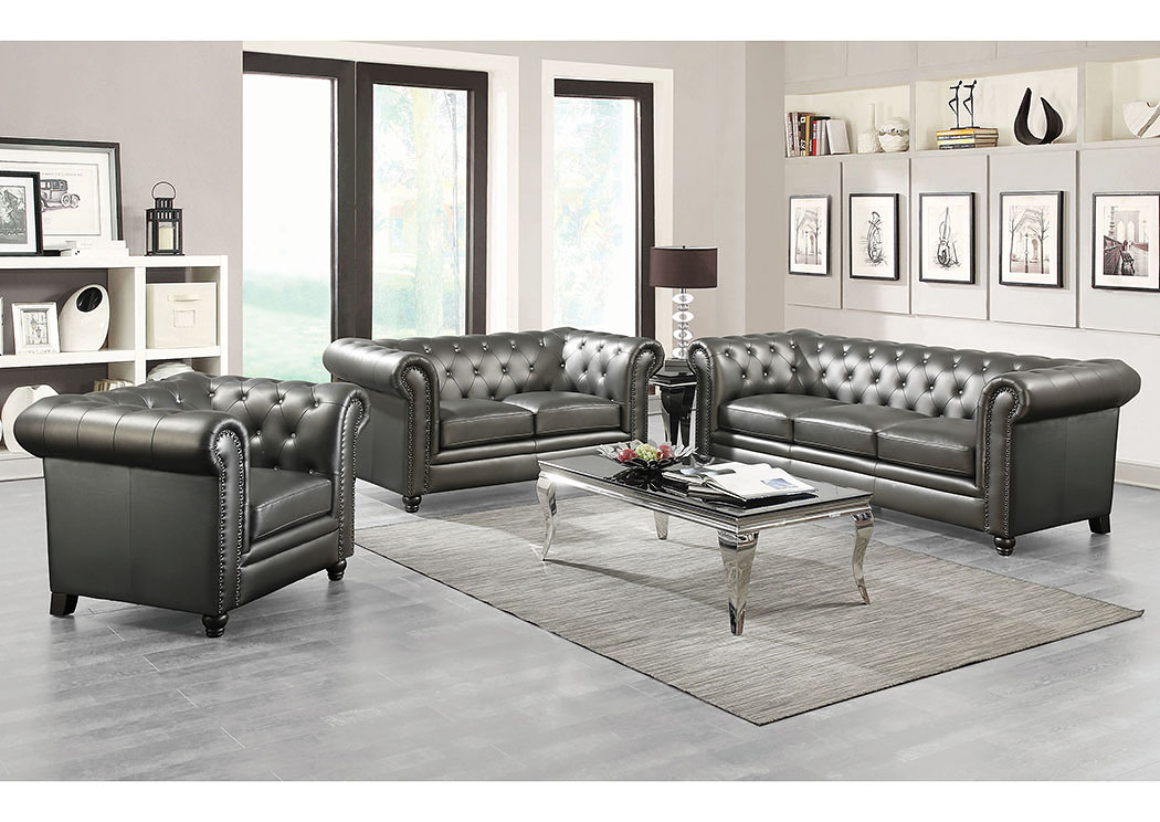 living room furniture nyc harlem furniture gunmetal grey sofa 12733