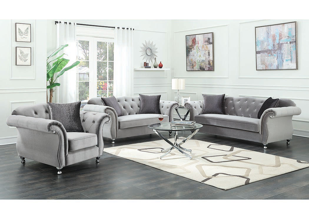 Chromed Loveseat,Coaster Furniture