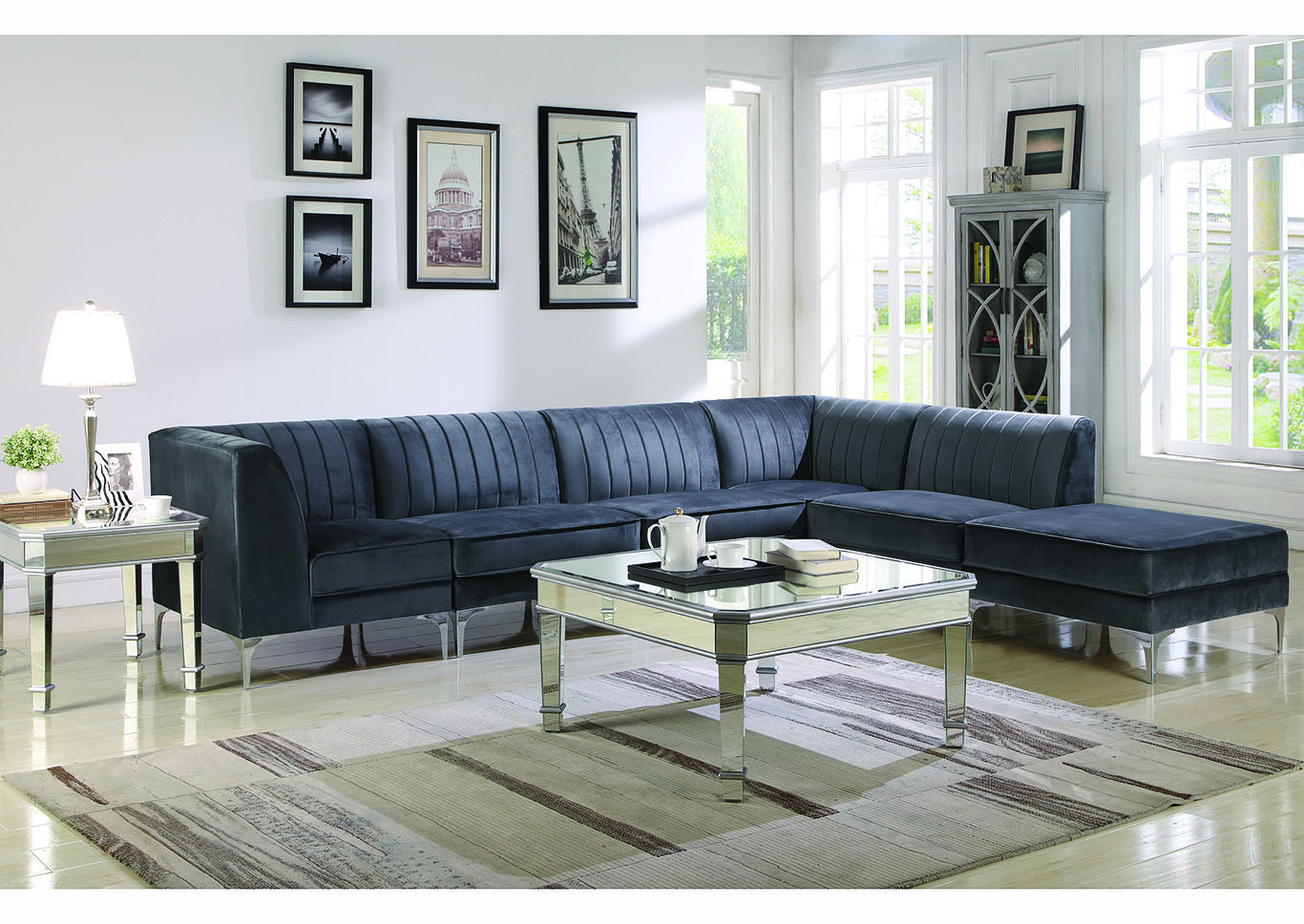 Gray Fabric Sectional,Coaster Furniture