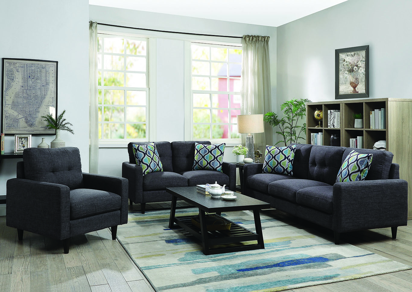Watsonville Grey Sofa & Loveseat,Coaster Furniture