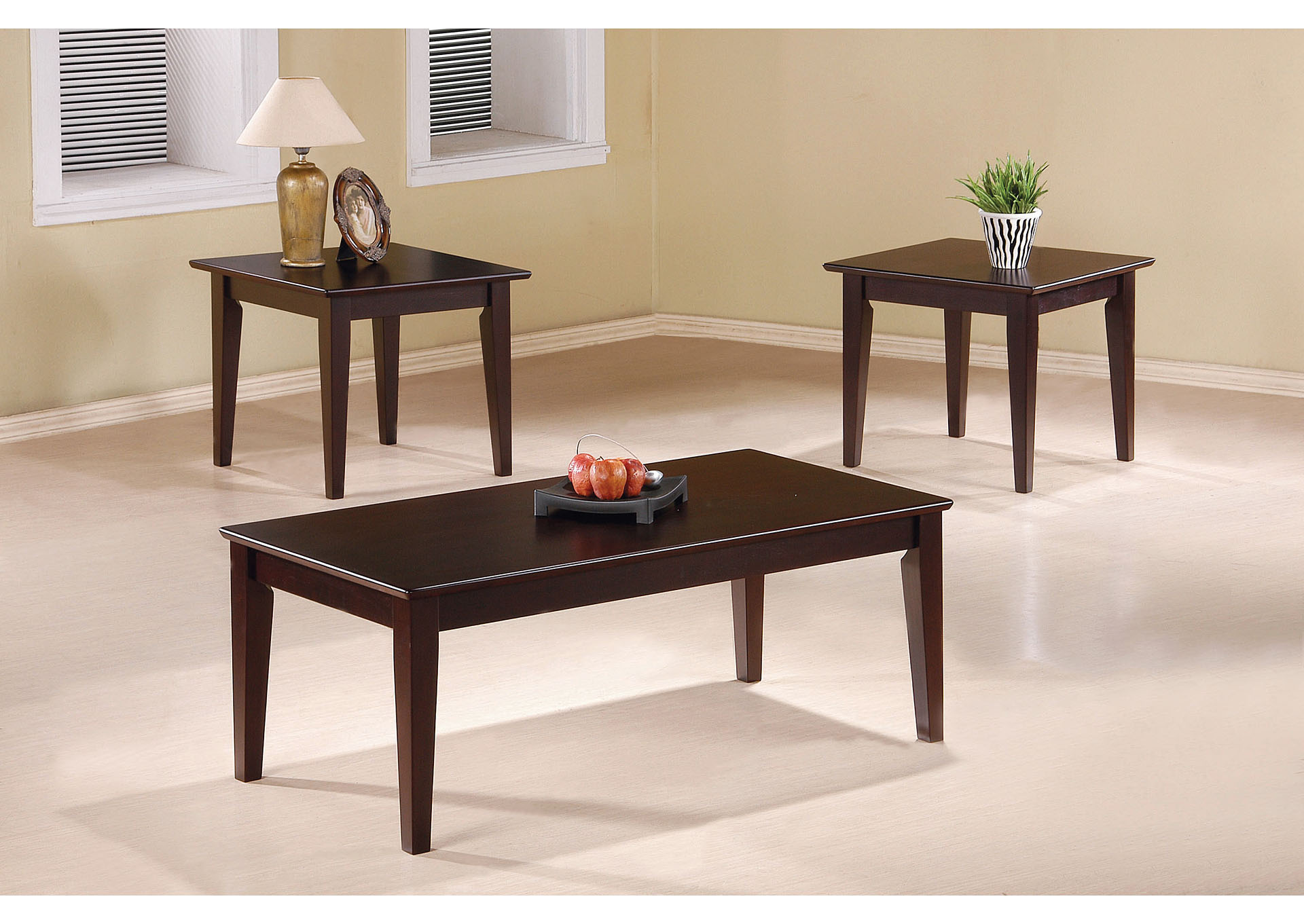 Cappuccino Three-Piece Set,Coaster Furniture