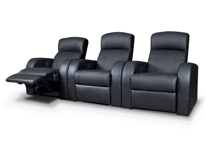 Cyrus Black 3 Pieces 3-Seater Home Theater,Coaster Furniture
