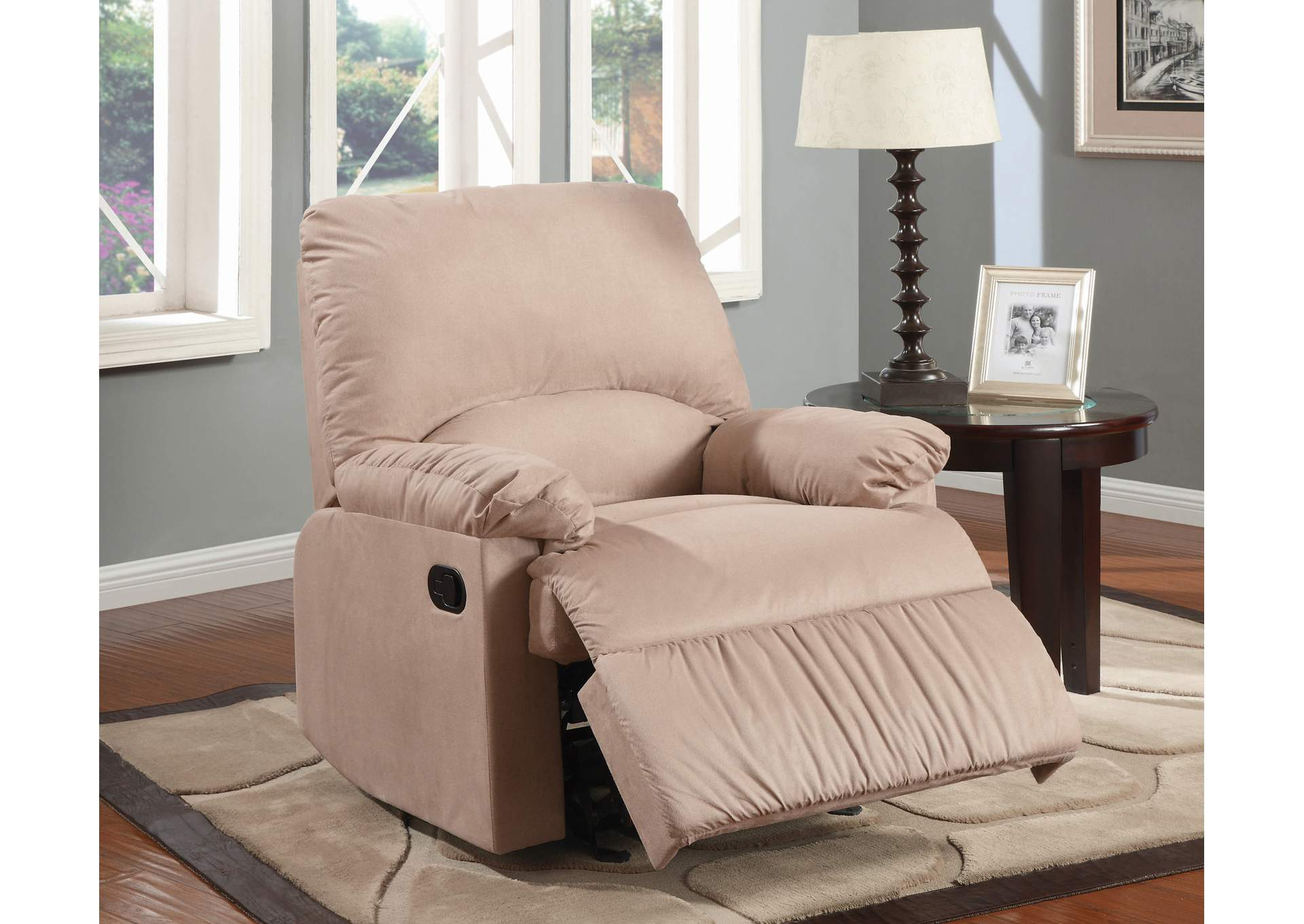 Central Furniture Mart Brown Light Glider Recliner