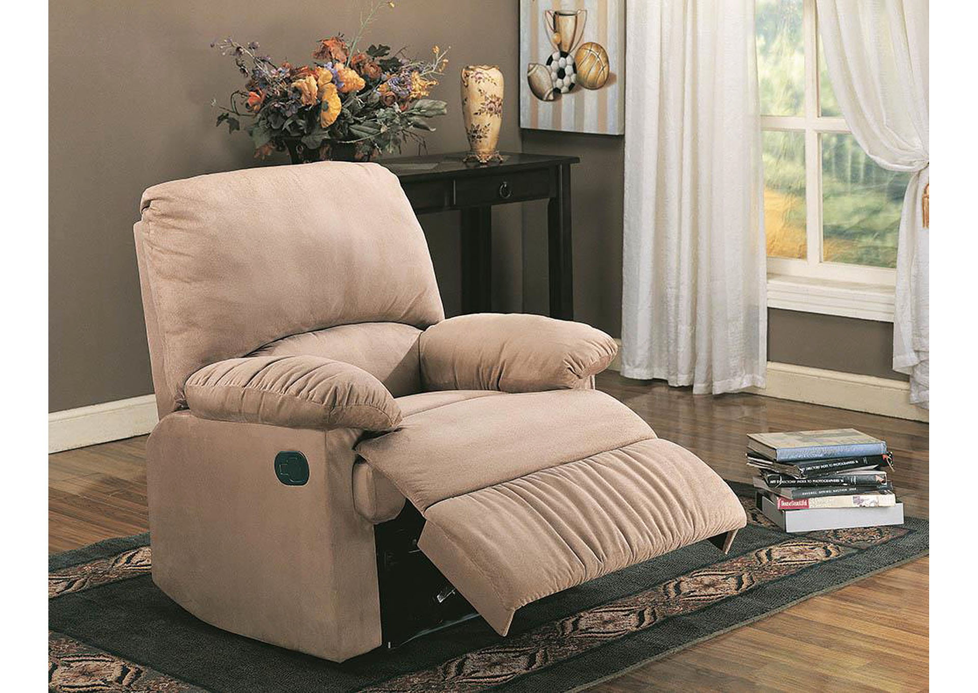 Shadow Casual Brown Motion Recliner,Coaster Furniture