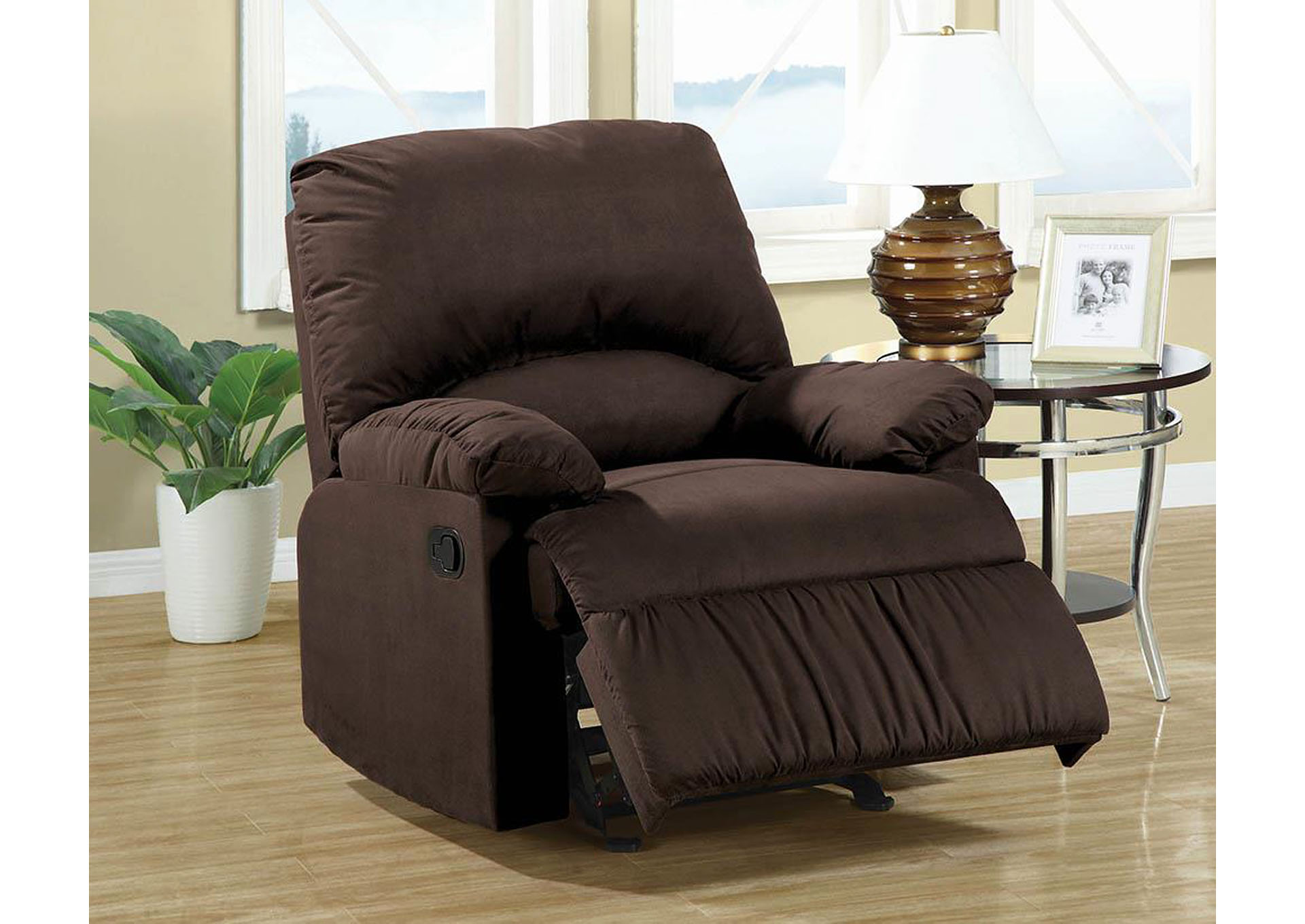 Chocolate Recliner,Coaster Furniture