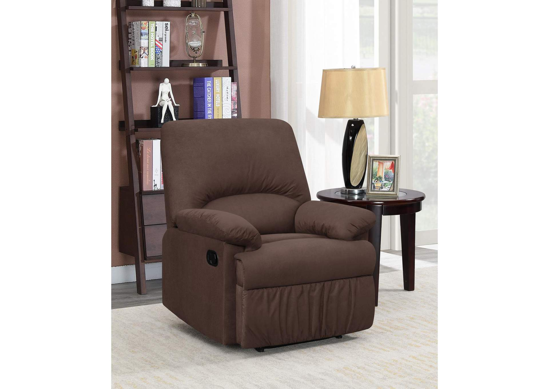 Rangitoto Casual Chocolate Motion Recliner,Coaster Furniture