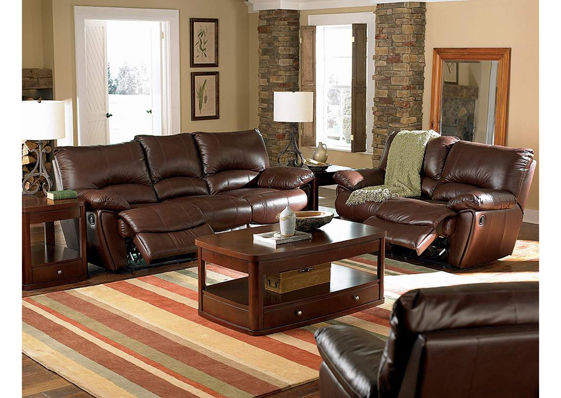 Marvelous Tempo Collection Clifford Dark Brown Double Power Reclining Sofa Interior Design Ideas Pimpapslepicentreinfo