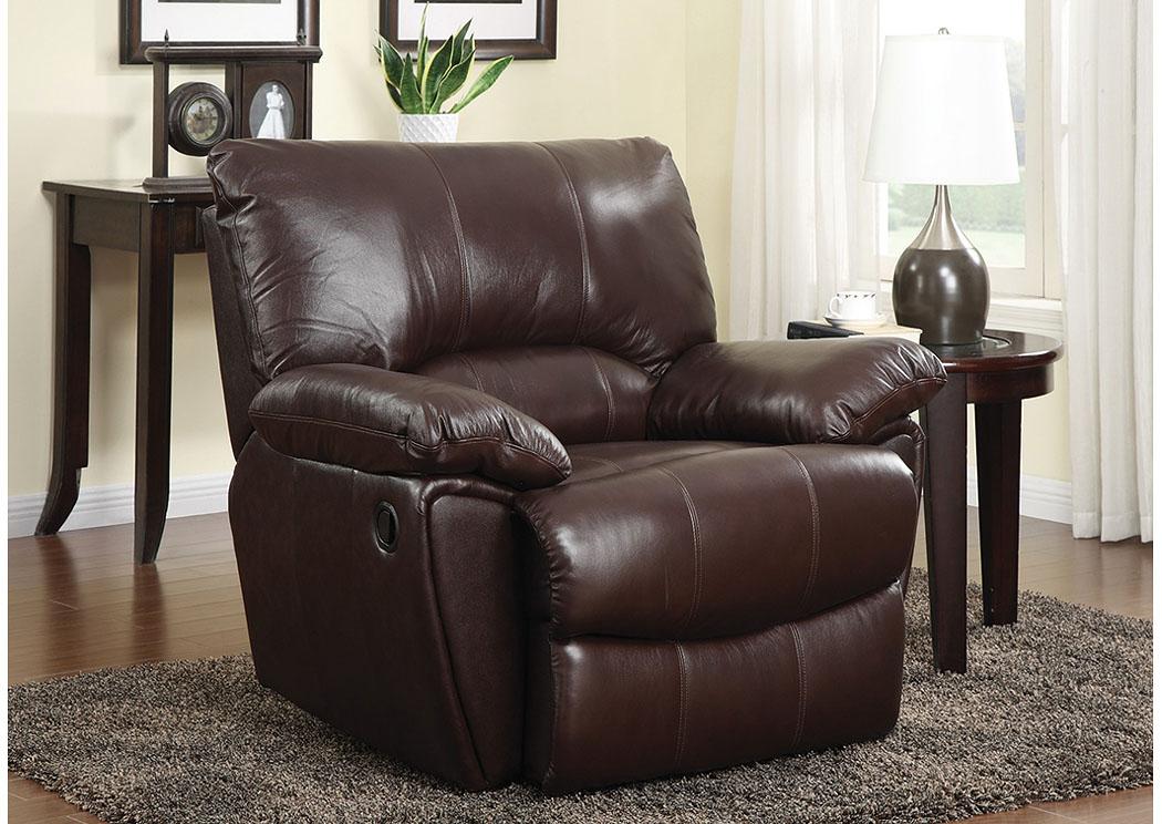 Payless Furniture & Mattress Clifford Dark Brown Recliner Chair | payless furniture recliners