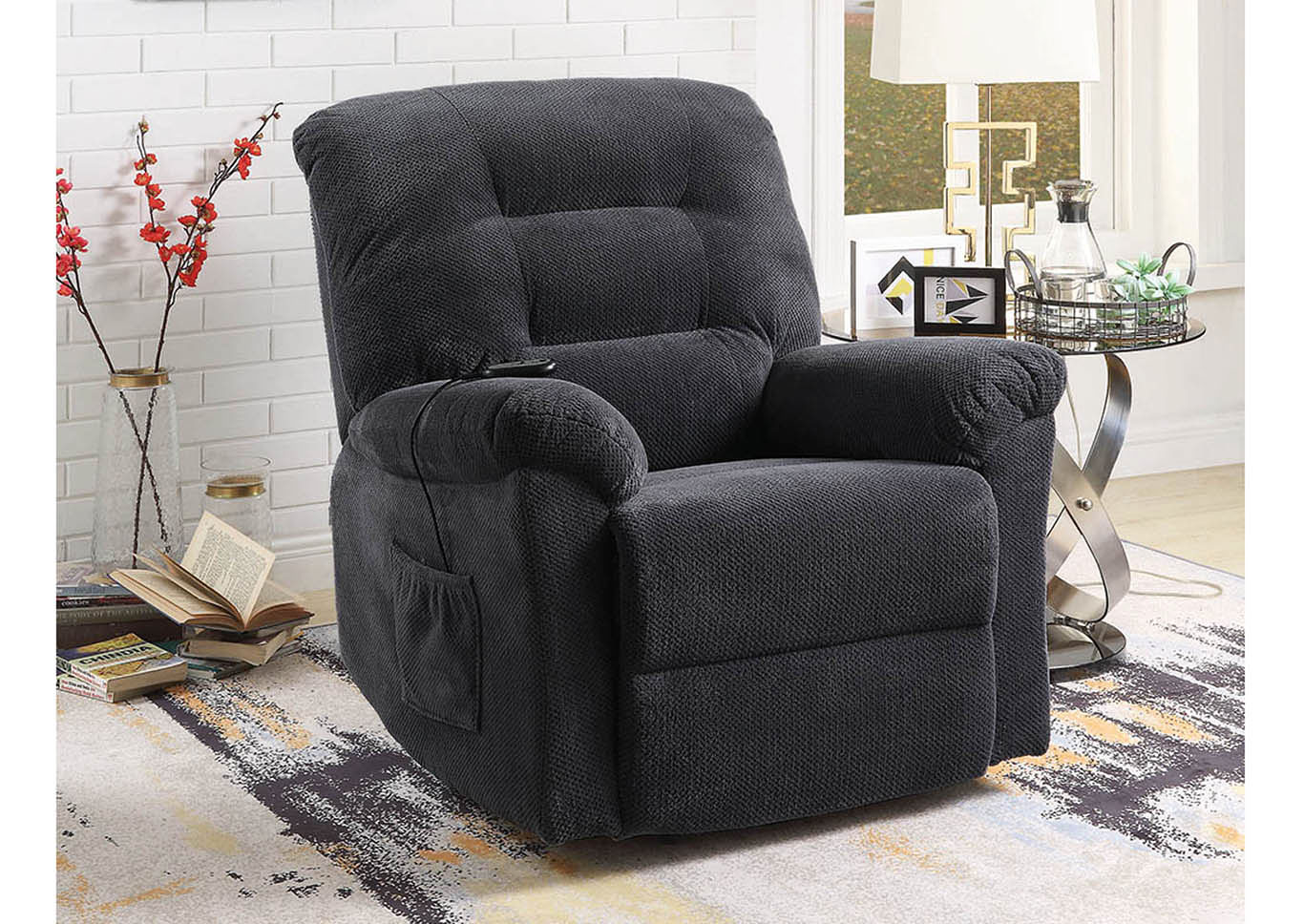 Charcoal Power Lift Recliner,Coaster Furniture