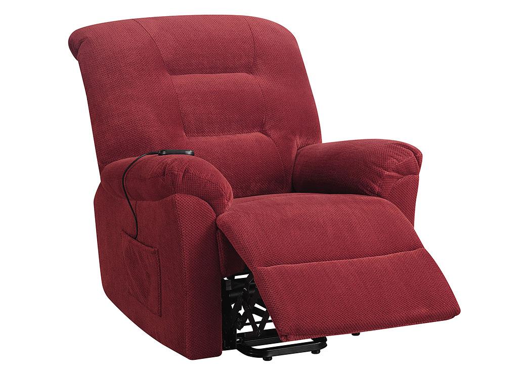 Apex Furniture Brick Red Power Lift Recliner