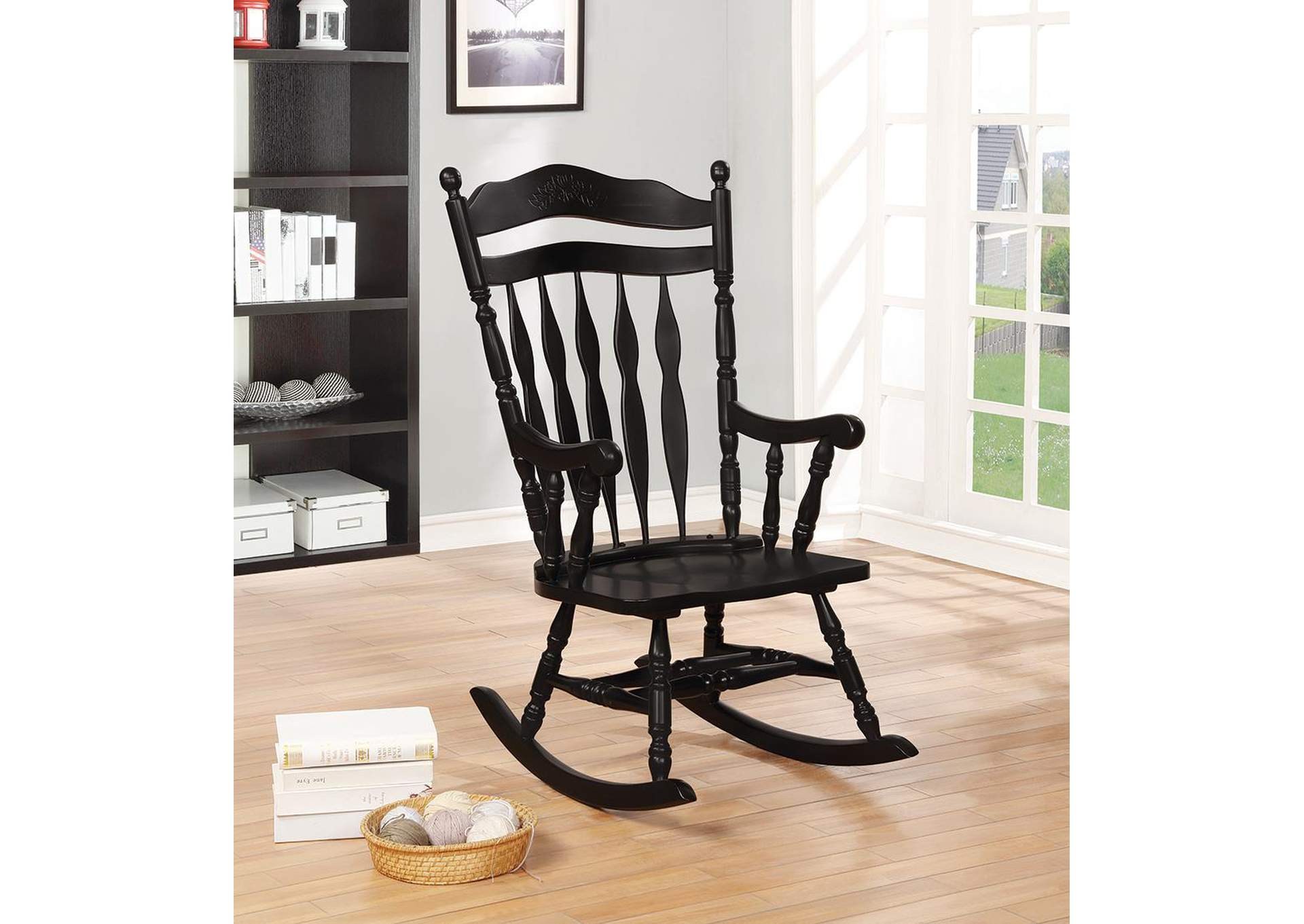 Swell Brothers Fine Furniture Windsor Black Rocking Chair Machost Co Dining Chair Design Ideas Machostcouk