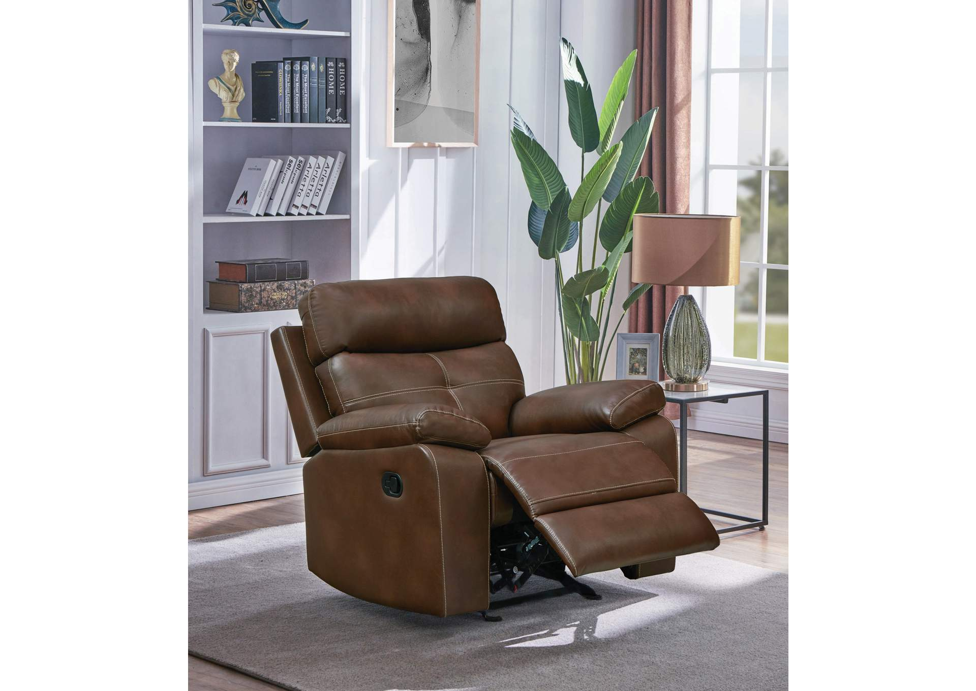 Jarons Damiano Brown Recliner
