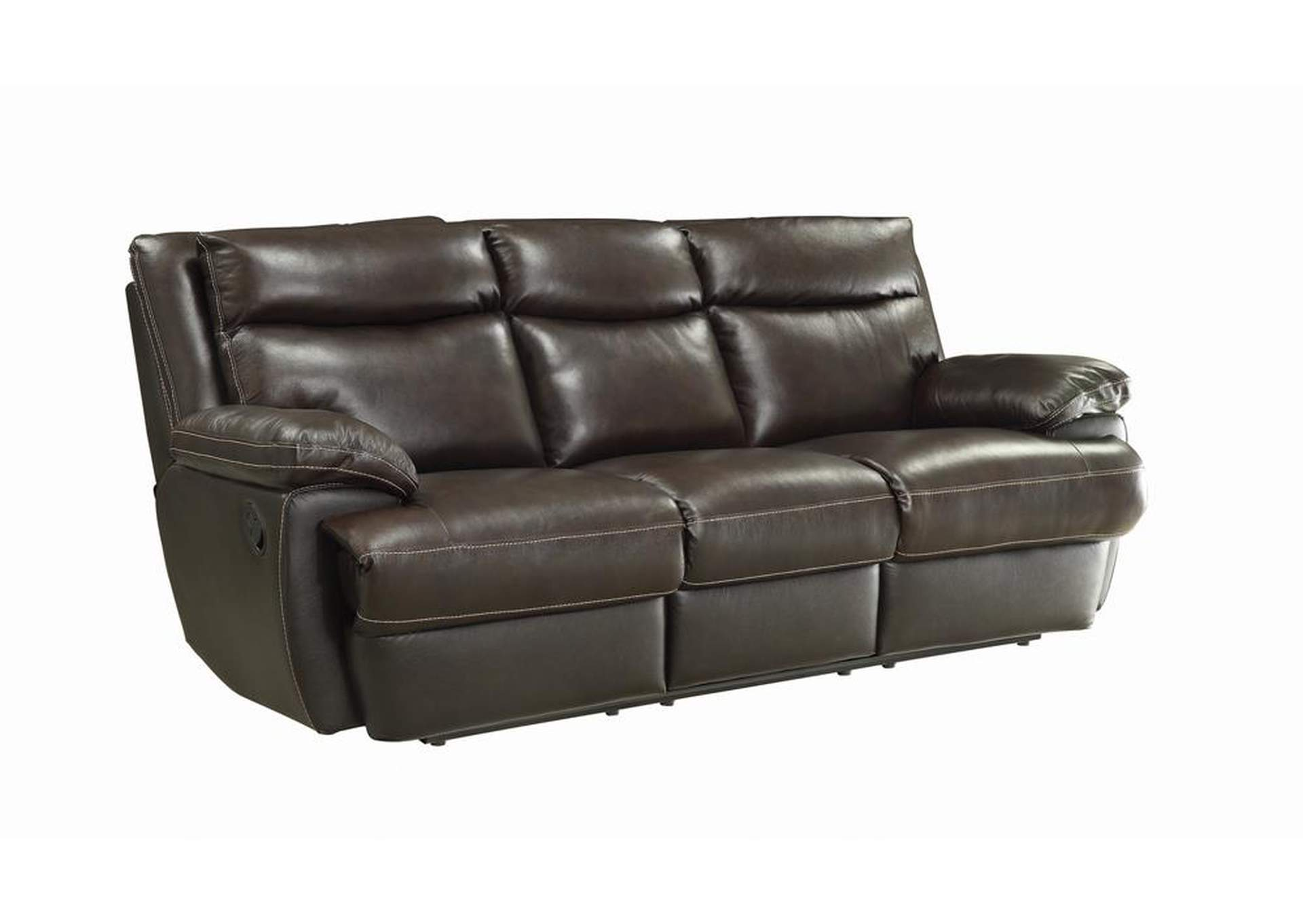 Armadillo MacPherson Brown Leather Reclining Sofa,Coaster Furniture