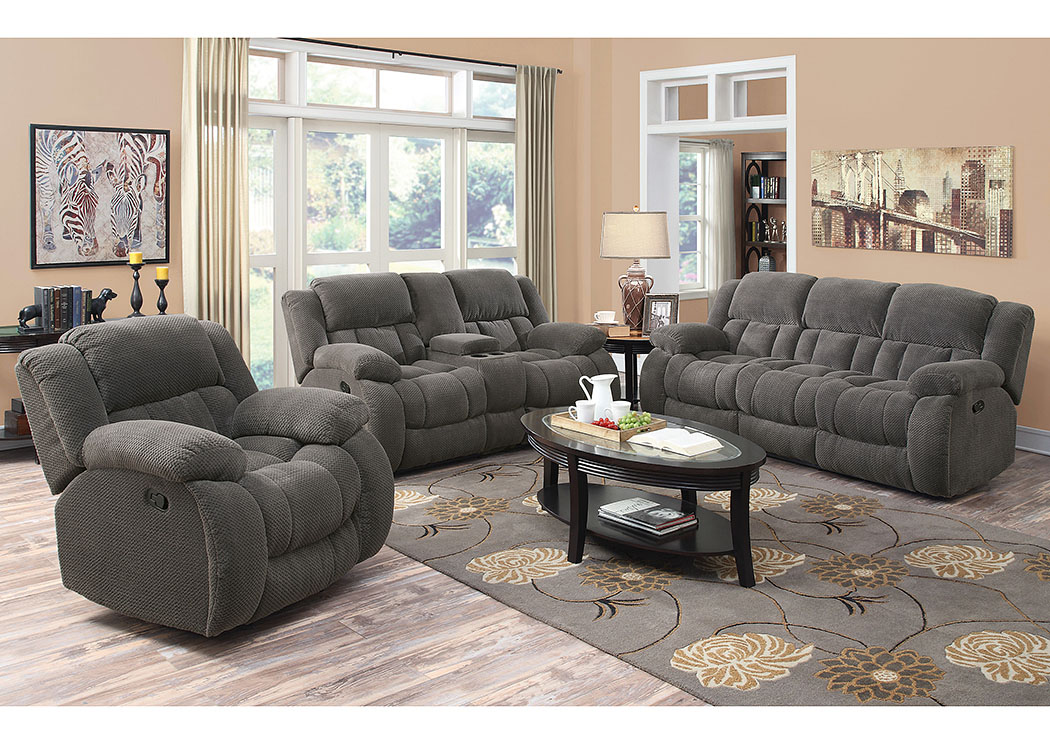Ocean Cabinetry Furniture Gray Reclining Sofa And Console Loveseat