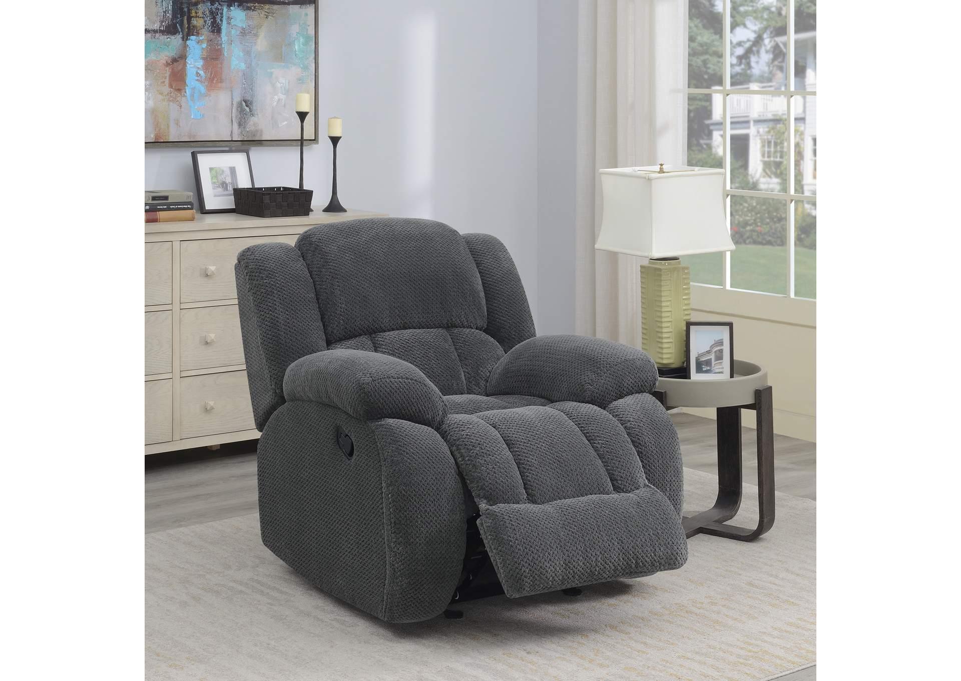 Remarkable Fine Living Furniture Weissman Grey Glider Recliner Machost Co Dining Chair Design Ideas Machostcouk