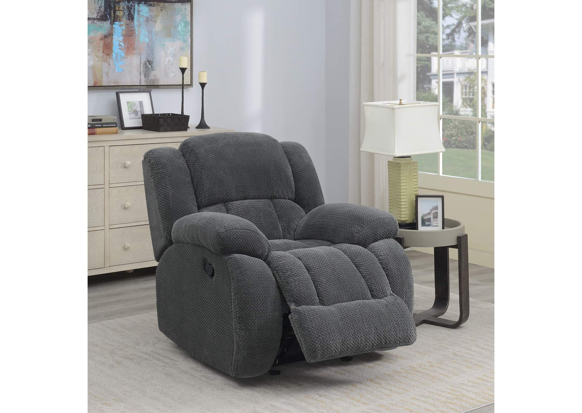 Enjoyable Fine Living Furniture Weissman Grey Glider Recliner Pdpeps Interior Chair Design Pdpepsorg