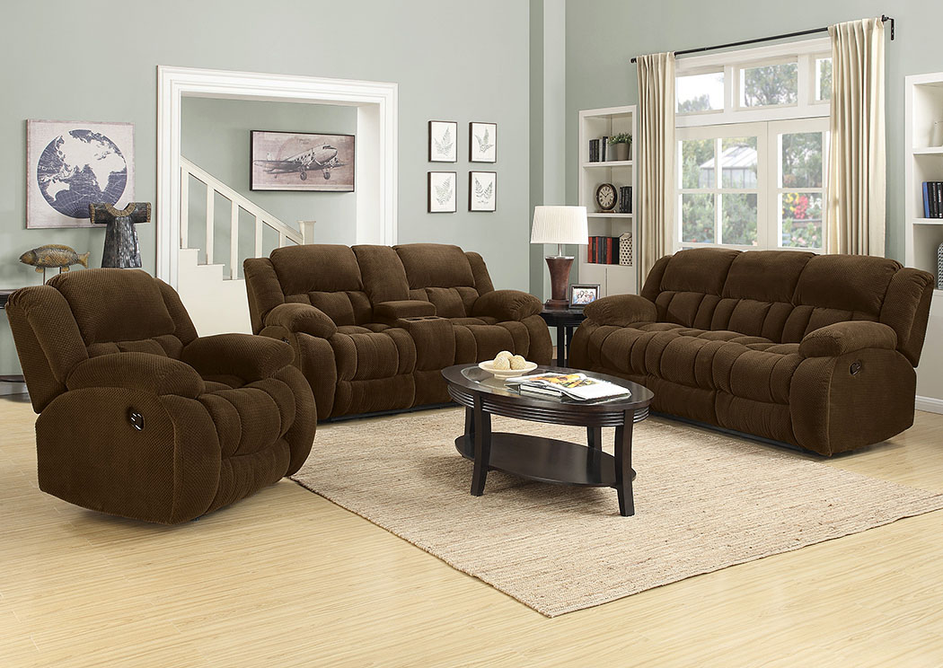 Brown Reclining Sofa & Loveseat,Coaster Furniture