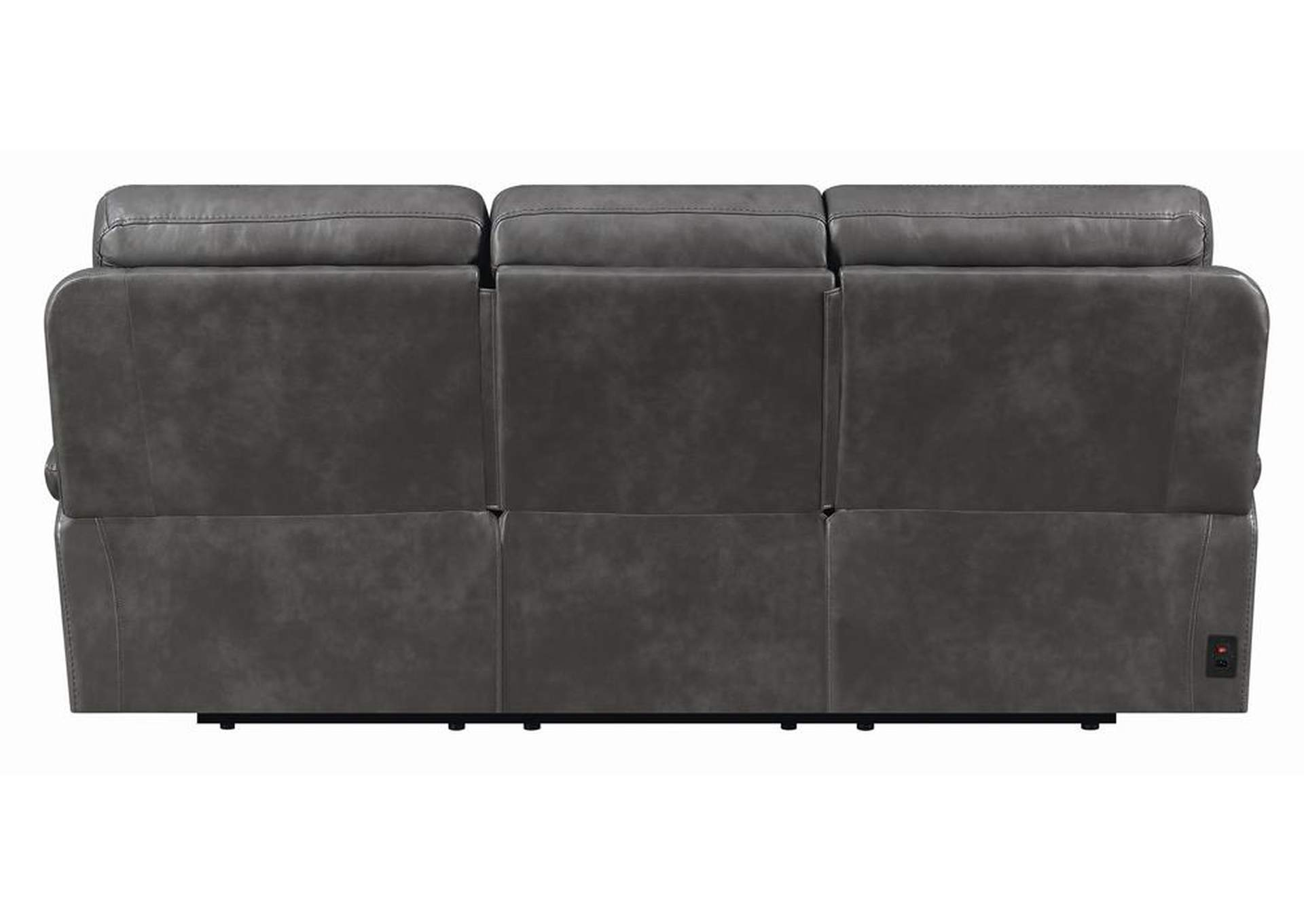 Ravenna Charcoal Power Reclining Sofa w/Power Headrest,Coaster Furniture
