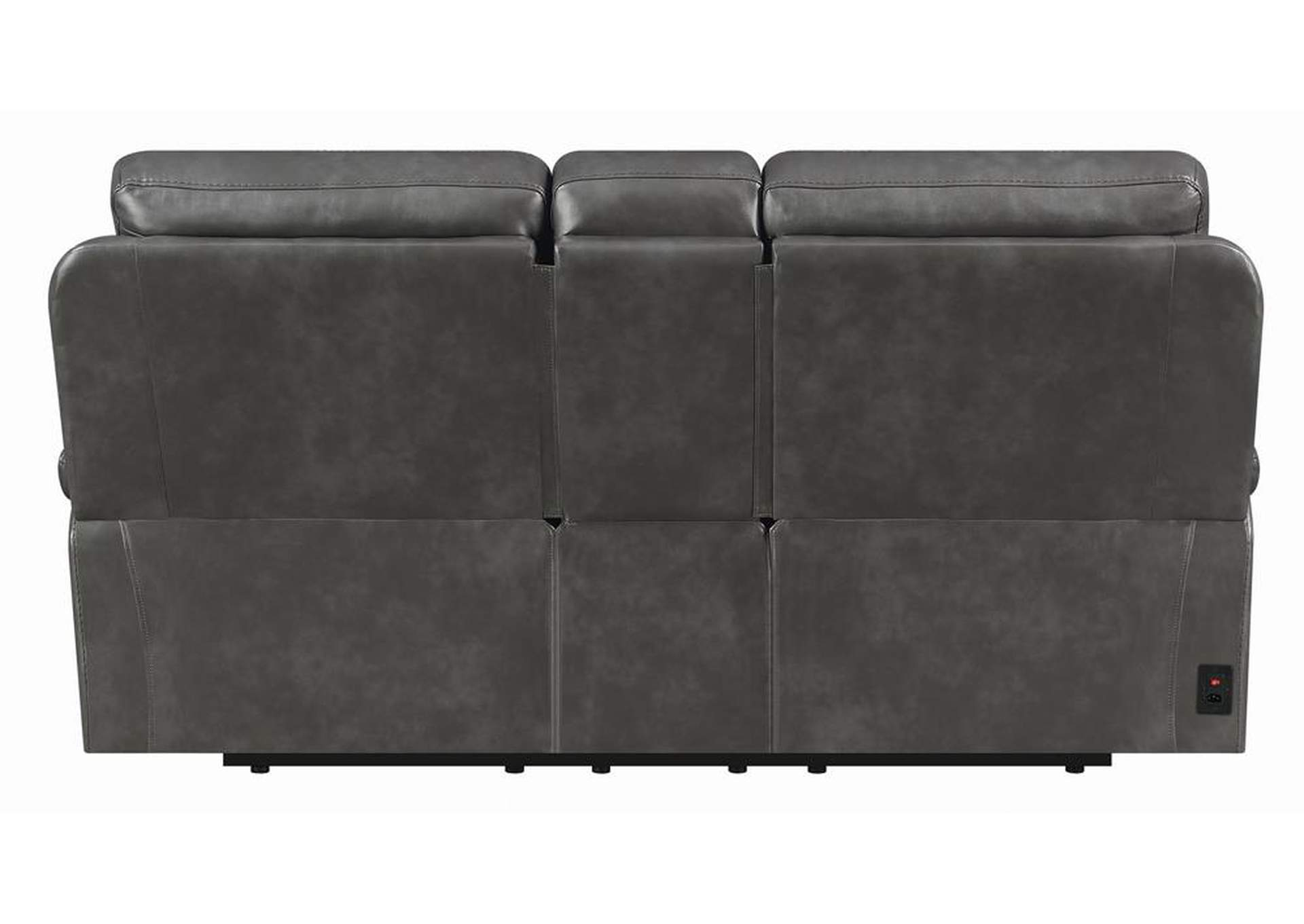 Ravenna Charcoal Power Reclining Loveseat,Coaster Furniture