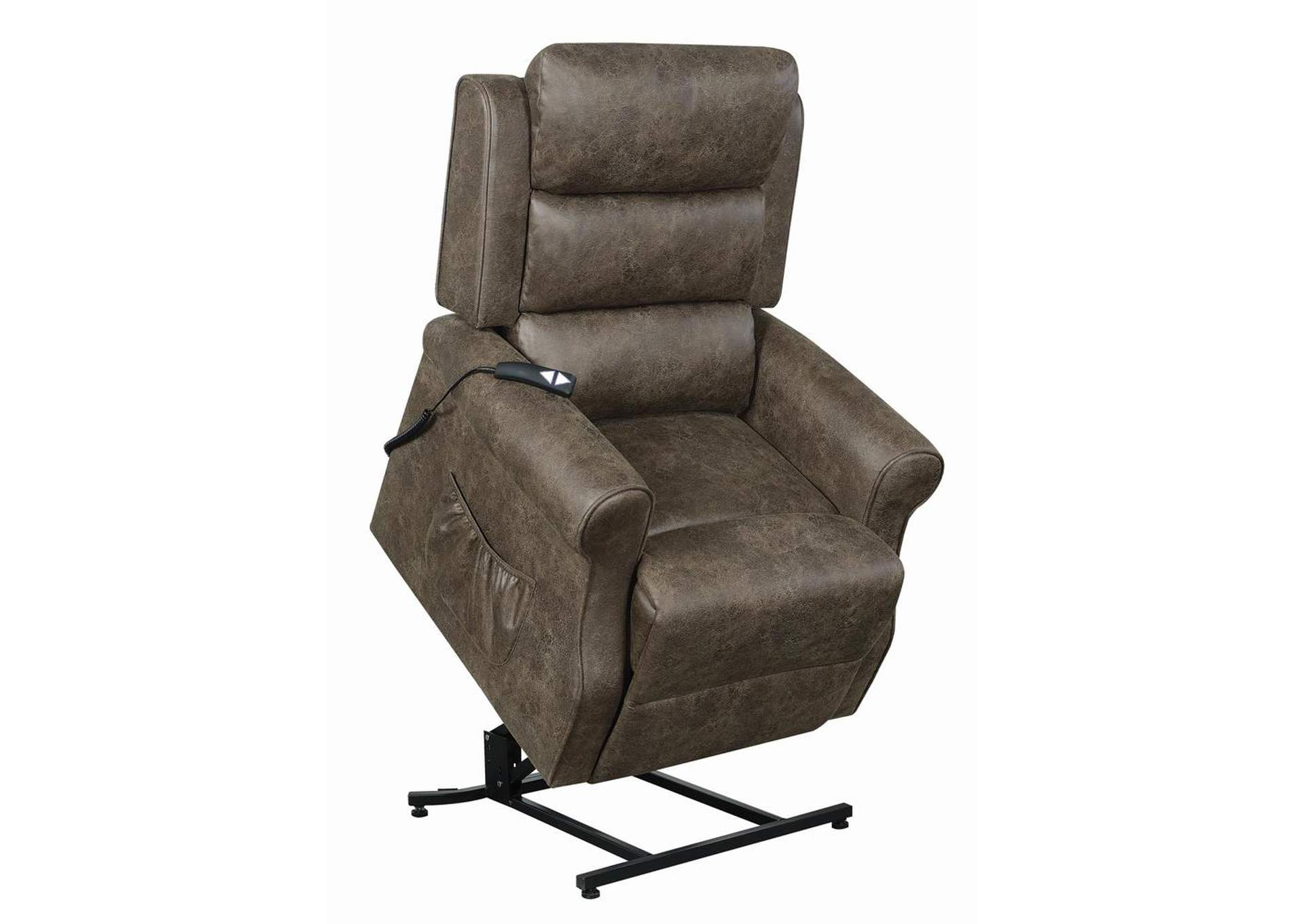 Brown Power Lift Recliner,Coaster Furniture