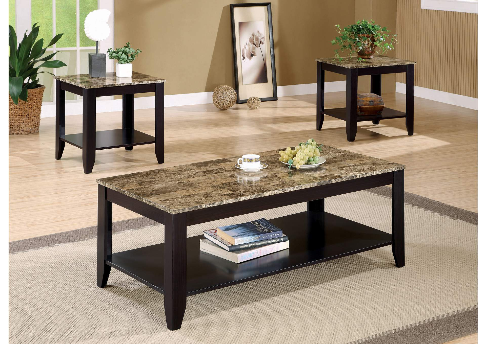 Three-Piece Table Set,Coaster Furniture