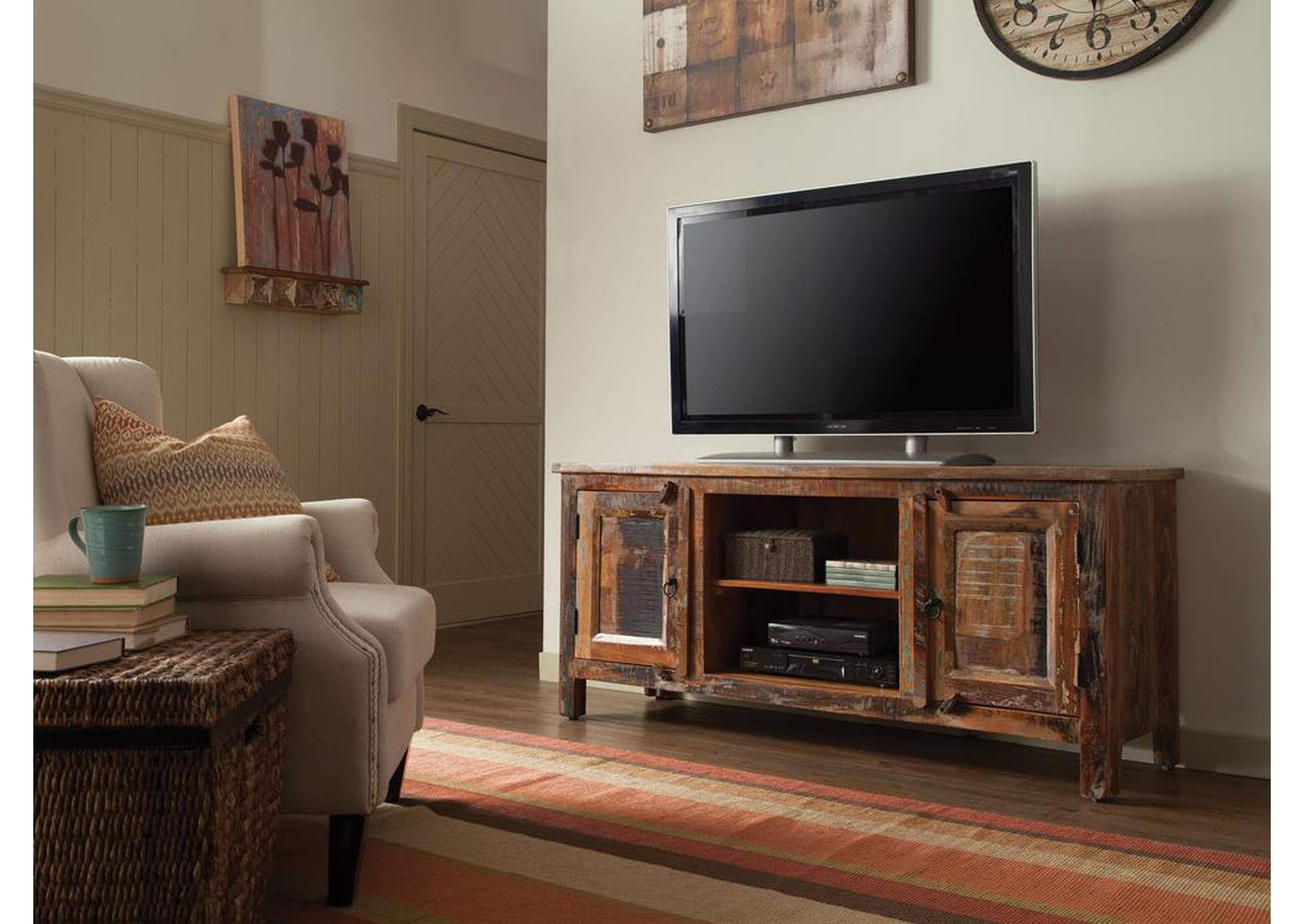 Reclaimed Wood TV Stand,Coaster Furniture
