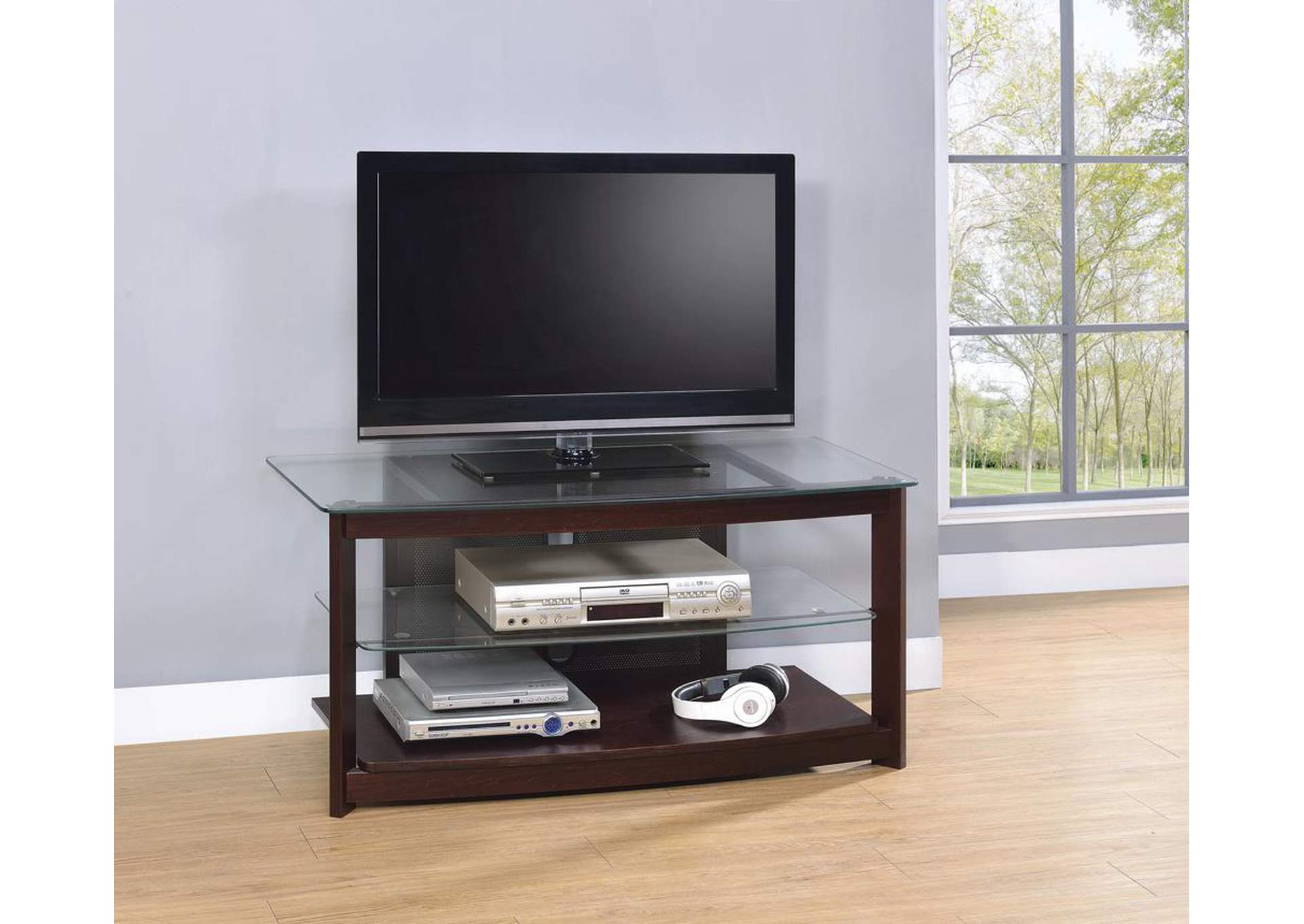 Dark Brown TV Console,Coaster Furniture