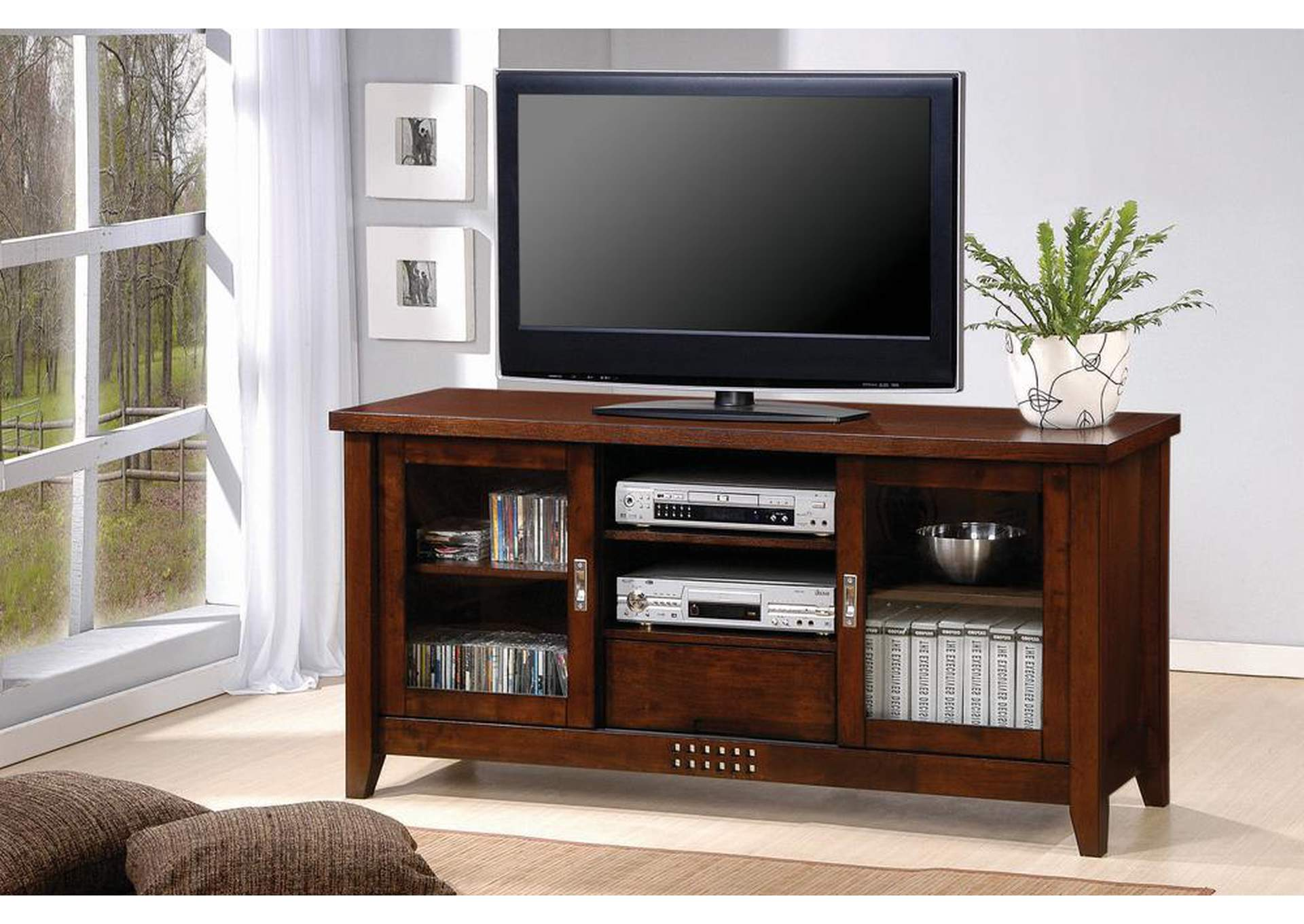 Warm Brown TV Console,Coaster Furniture